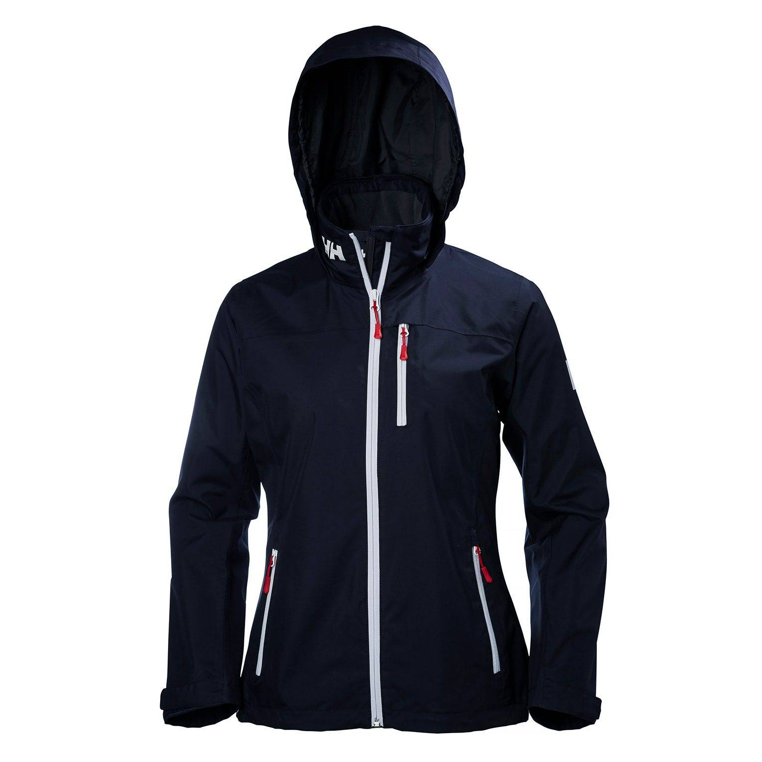 Helly Hansen W Crew Hooded Midlayer Jacket Womens Sailing Navy XS