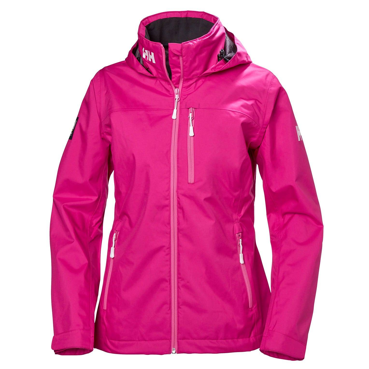 Helly Hansen W Crew Hooded Jacket Womens Sailing Pink XS