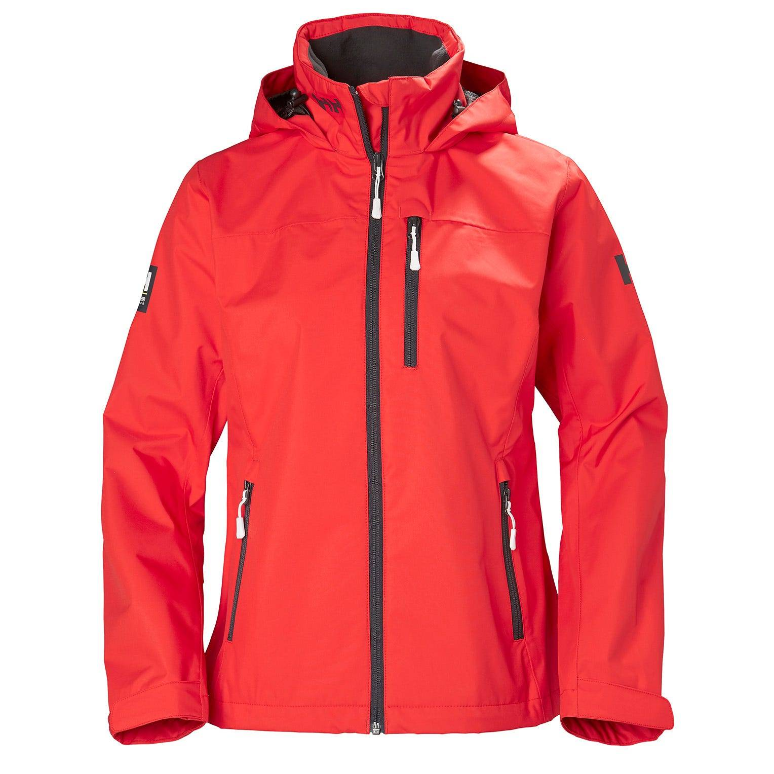 Helly Hansen W Crew Hooded Jacket Womens Sailing Red L