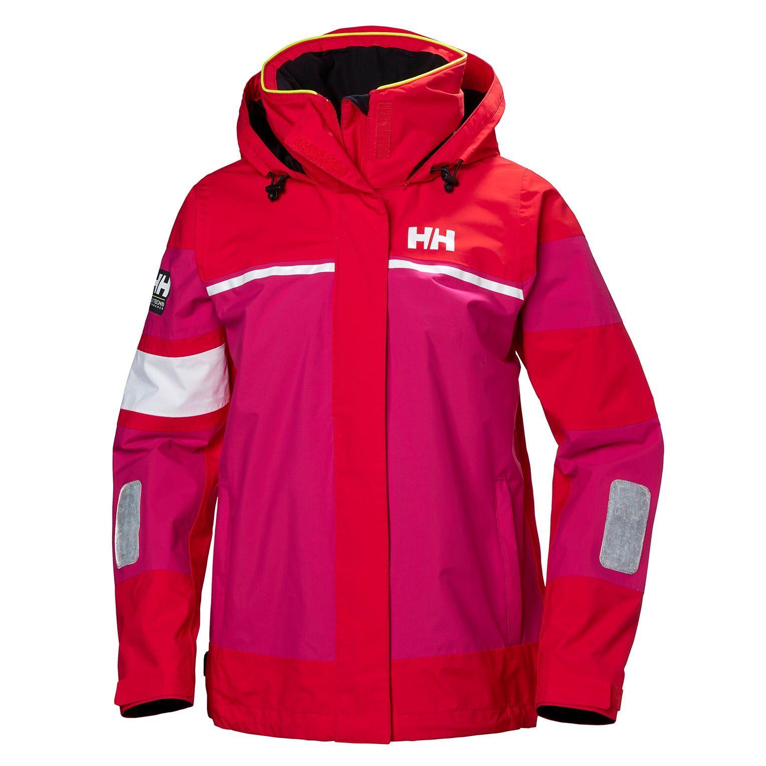 Helly Hansen W Salt Light Jacket Womens Sailing Red XL