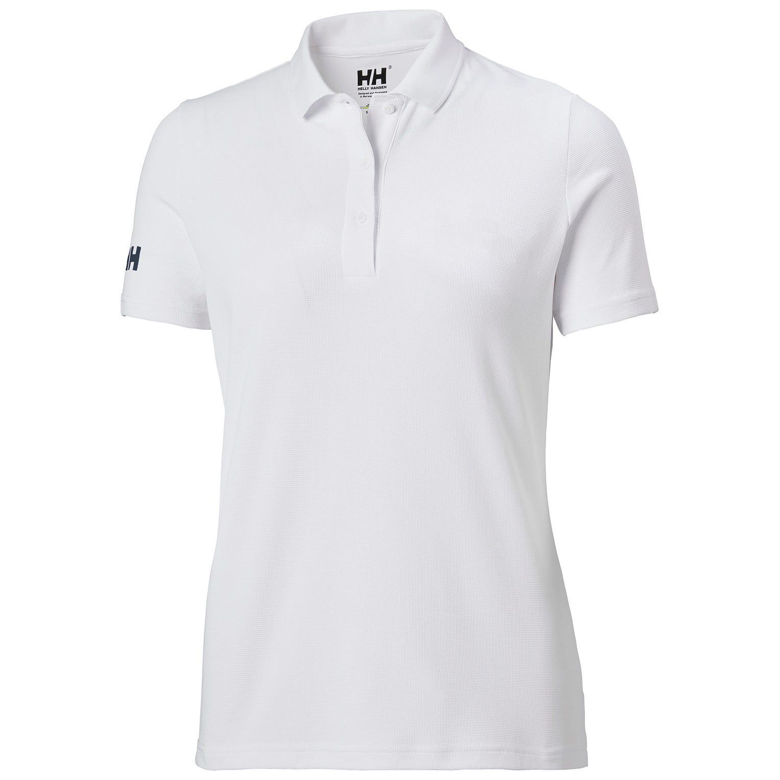 Helly Hansen W Crew Tech Polo Womens White XS