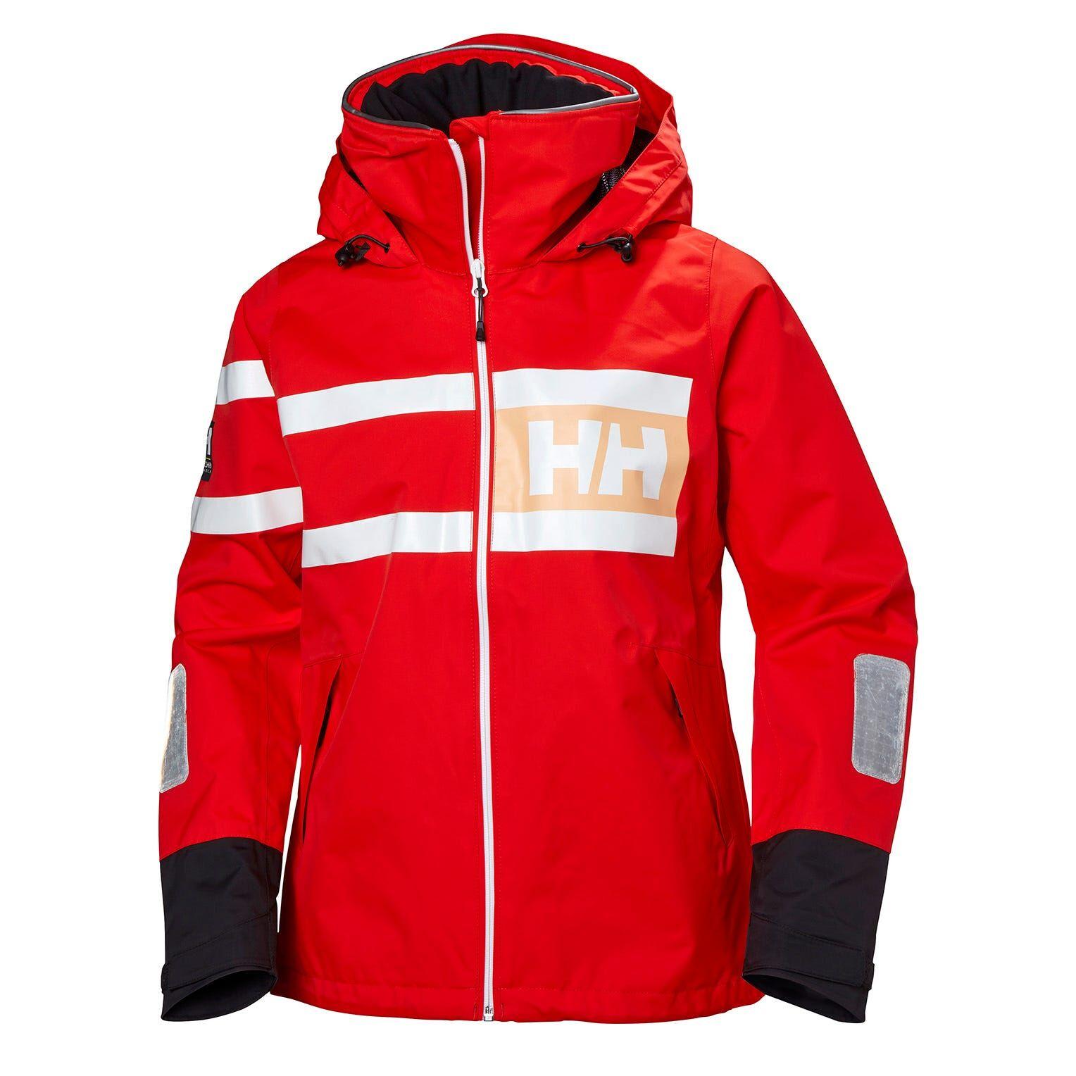 Helly Hansen W Salt Power Jacket Womens Sailing Red XL