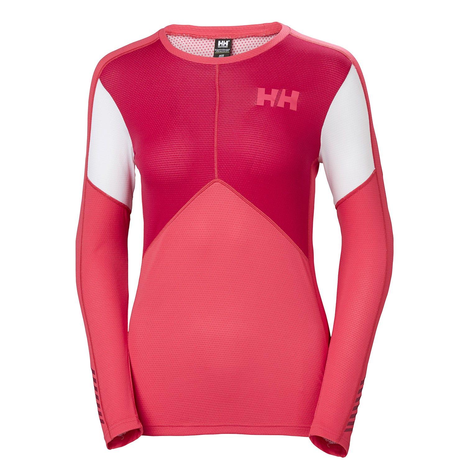Helly Hansen W Lifa Active Crew Womens Baselayer Pink XS
