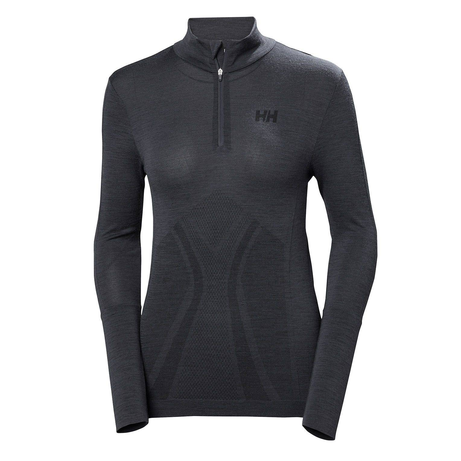 Helly Hansen W Lifa Merino Seamless 1/2 Womens Baselayer Navy L