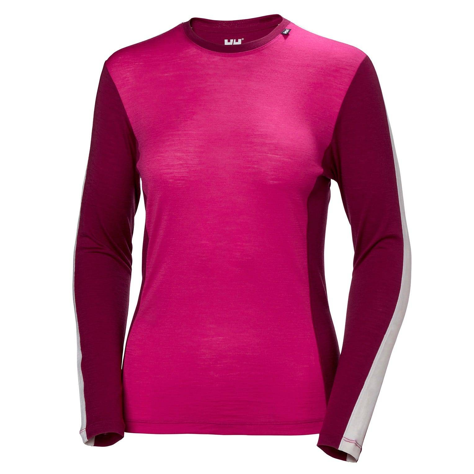 Helly Hansen W Merino LightLong Sleeve Womens Baselayer Pink L