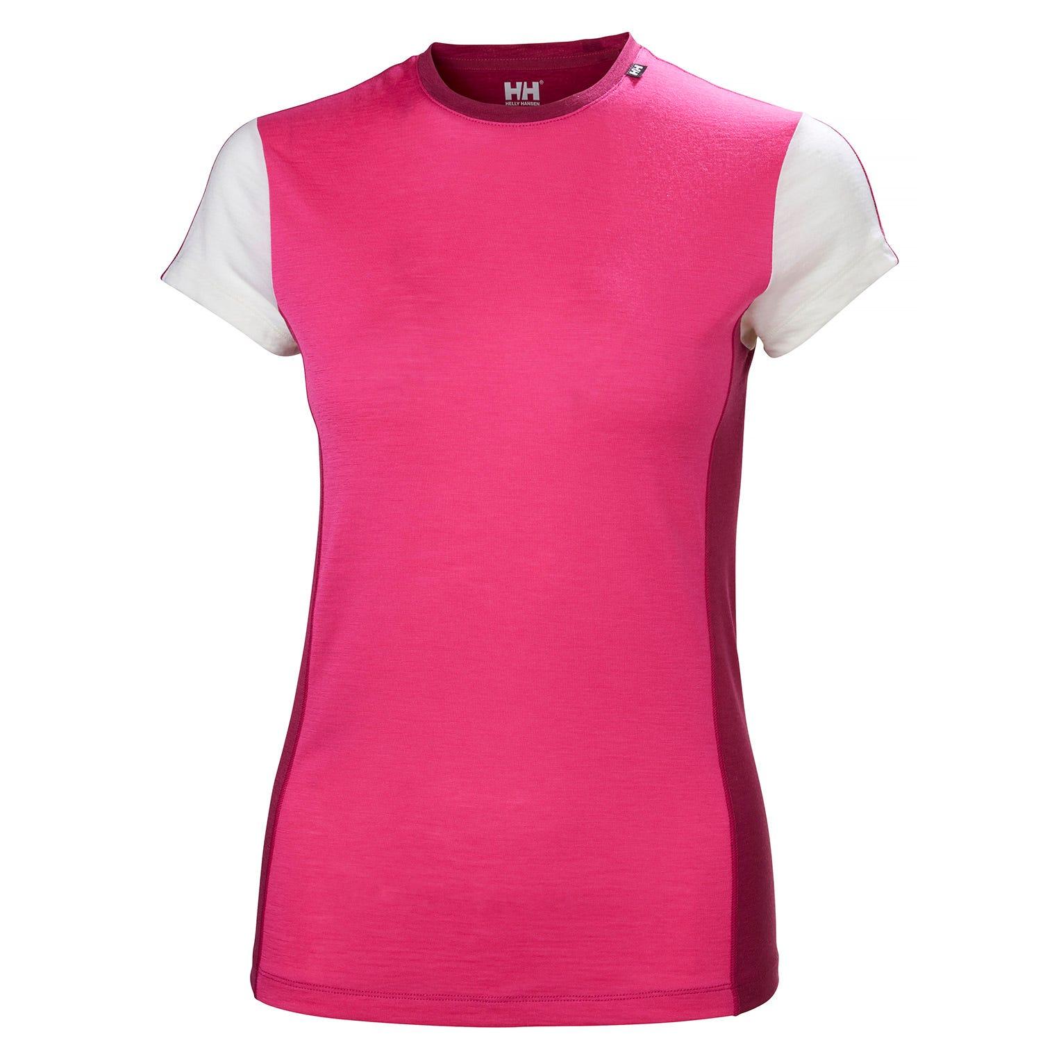 Helly Hansen W Merino Light Womens Baselayer Pink L