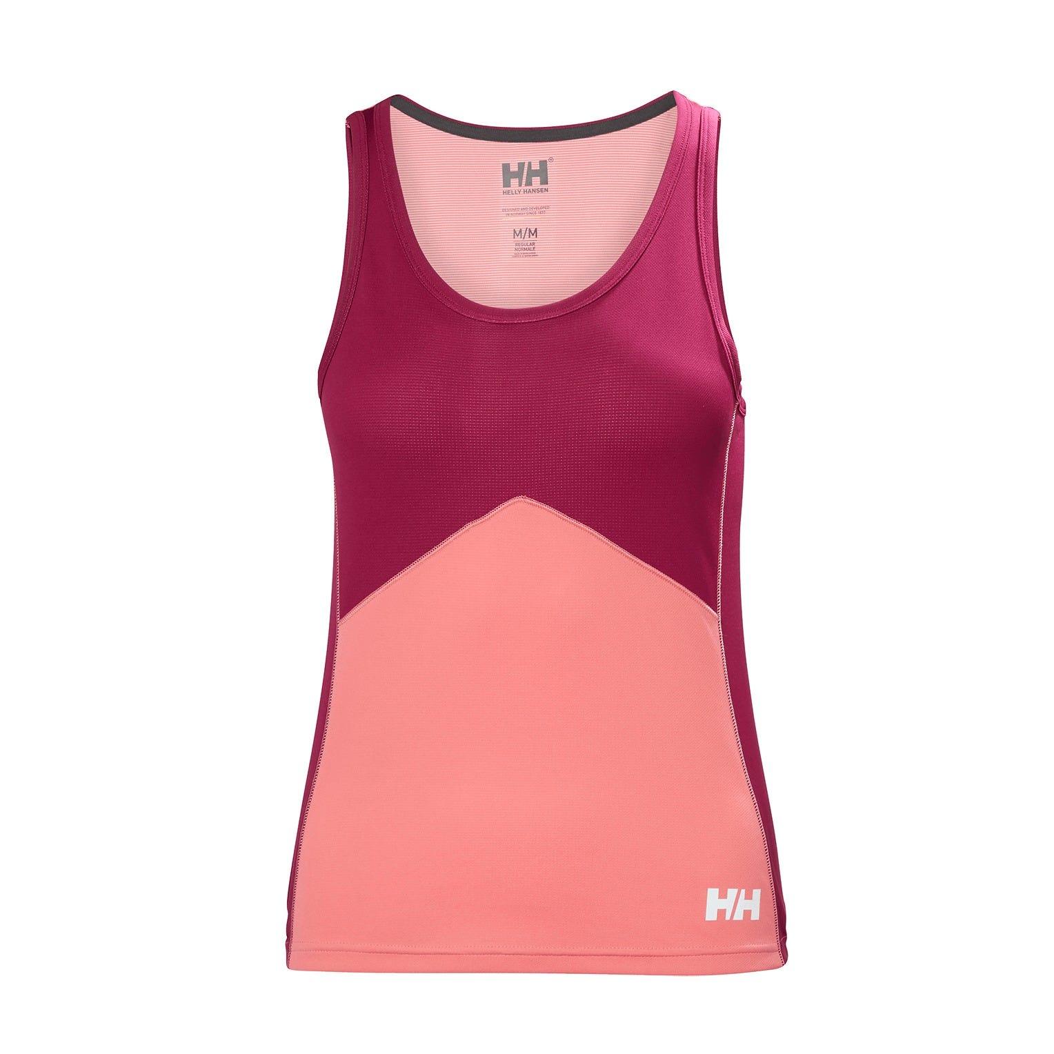 Helly Hansen W Lifa Active Light Singlet Womens Baselayer Pink XL