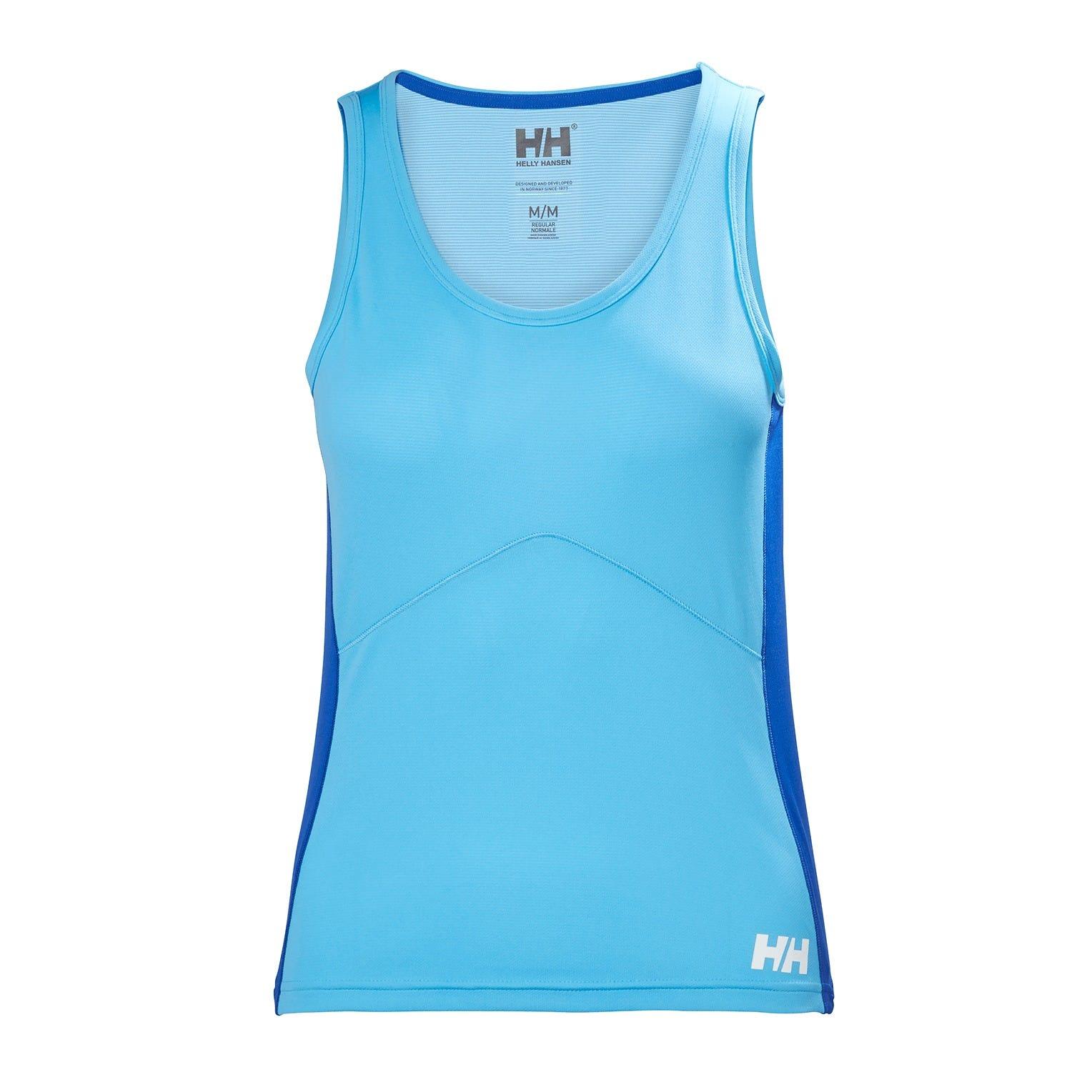 Helly Hansen W Lifa Active Light Singlet Womens Baselayer Blue L