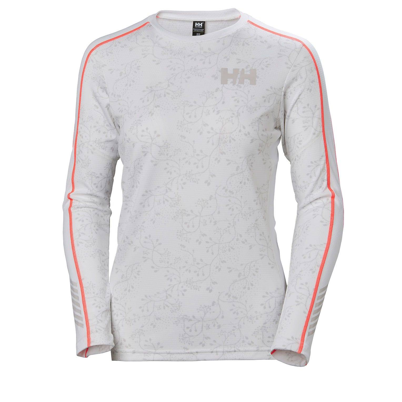 Helly Hansen W Lifa Active Graphic Crew Womens Baselayer White XS