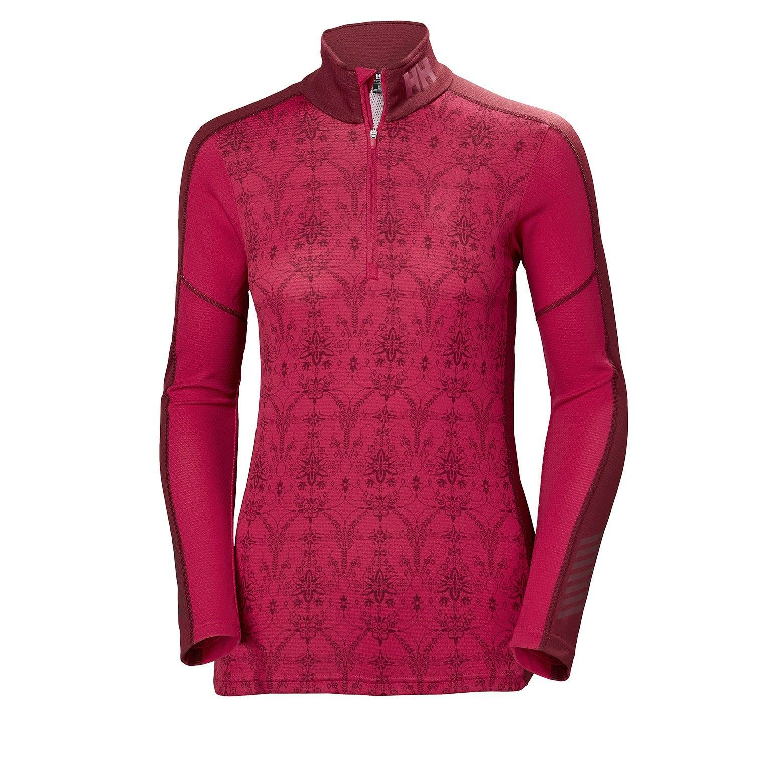 Helly Hansen W Lifa Active Graphic 1/2 Z Womens Baselayer Pink L