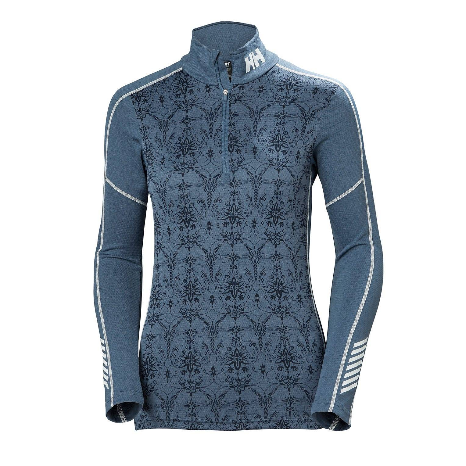 Helly Hansen W Lifa Active Graphic 1/2 Z Womens Baselayer Blue S