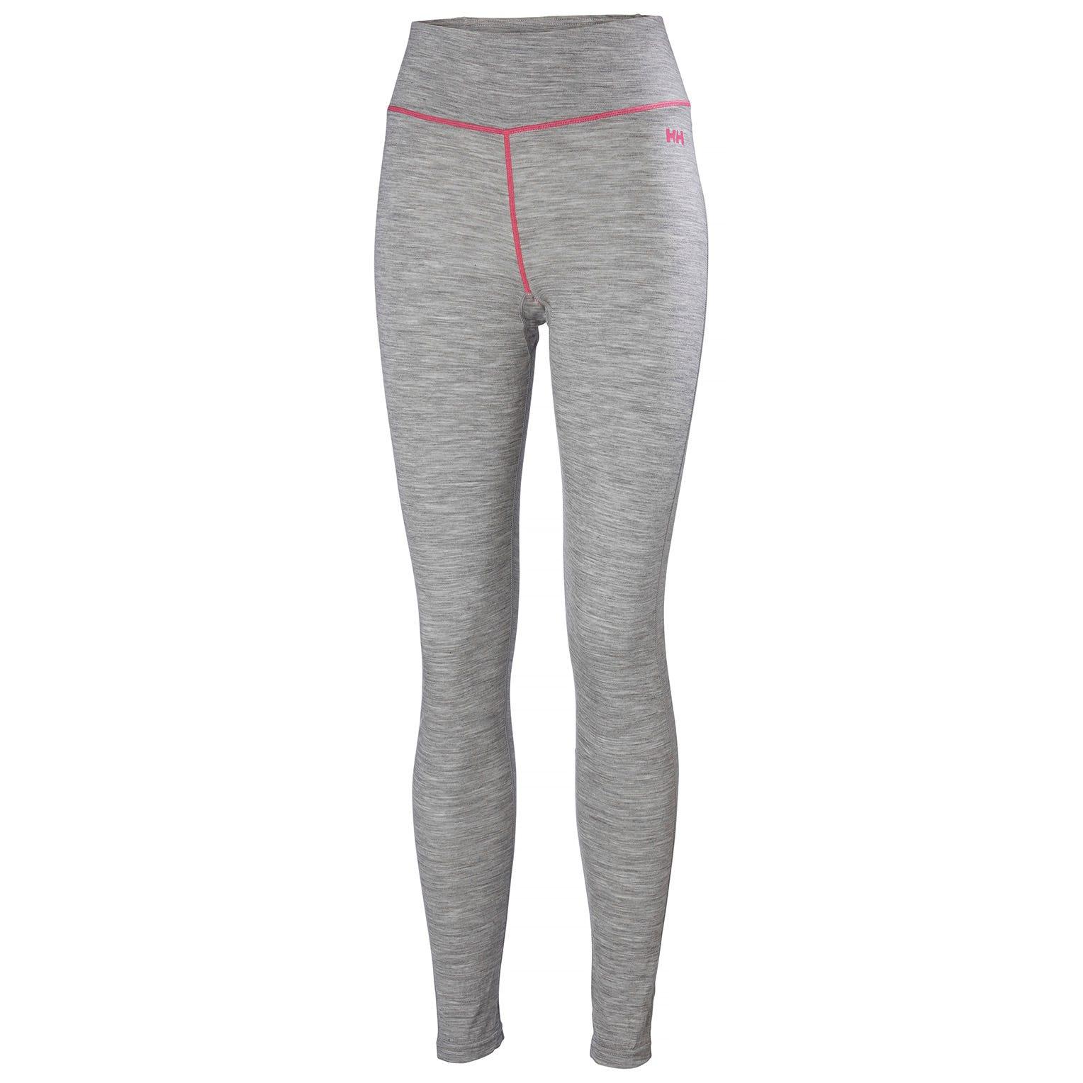 Helly Hansen W Merino Mid Pant Womens Baselayer Grey XL