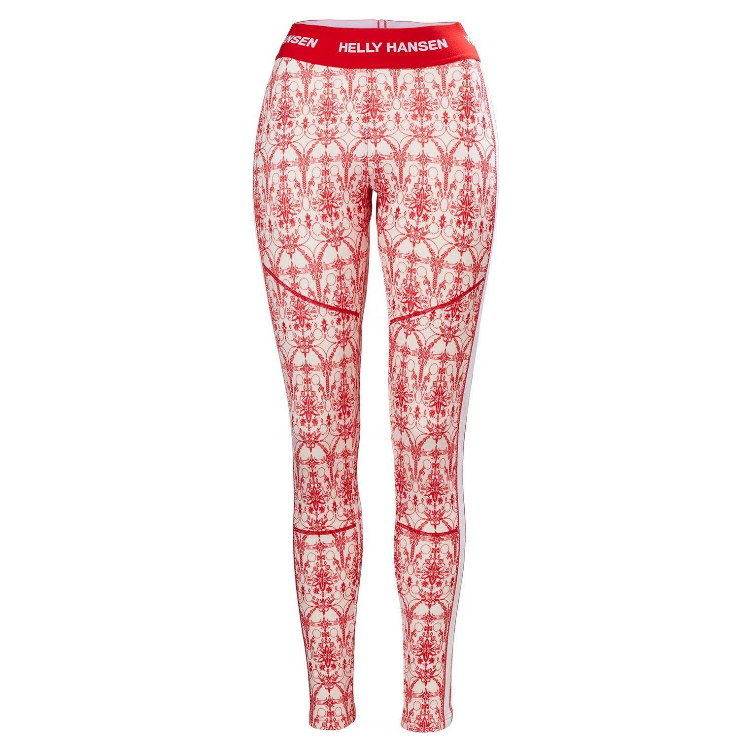 Helly Hansen W Lifa Merino Graphic Pant Womens Baselayer Red M