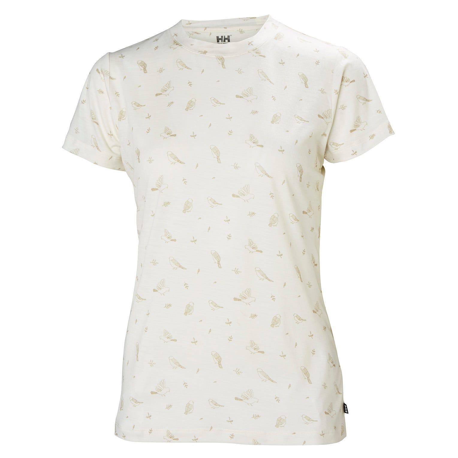 Helly Hansen W Merino Graphic Tshirt Womens Midlayer White L