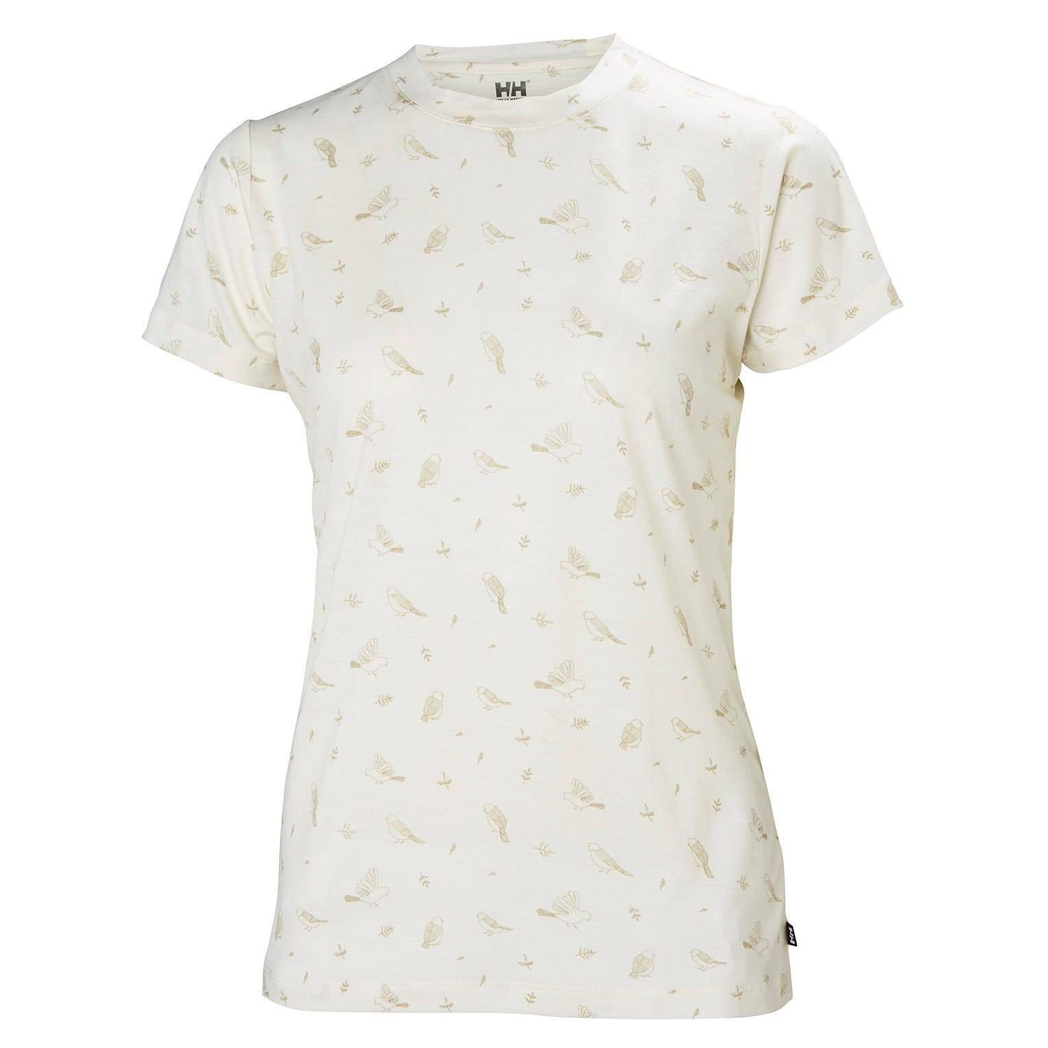 Helly Hansen W Merino Graphic Tshirt Womens Midlayer White S