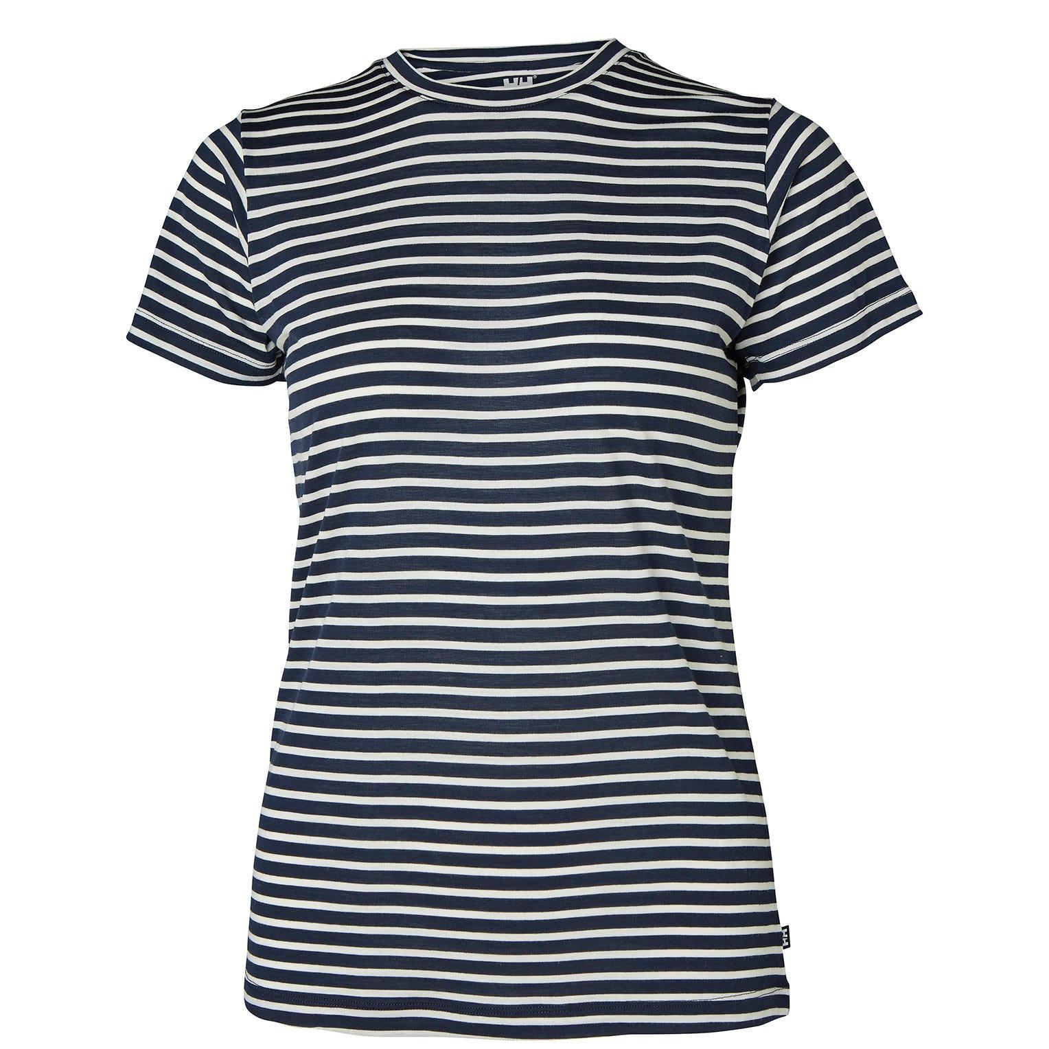 Helly Hansen W Merino Graphic Tshirt Womens Midlayer Navy S