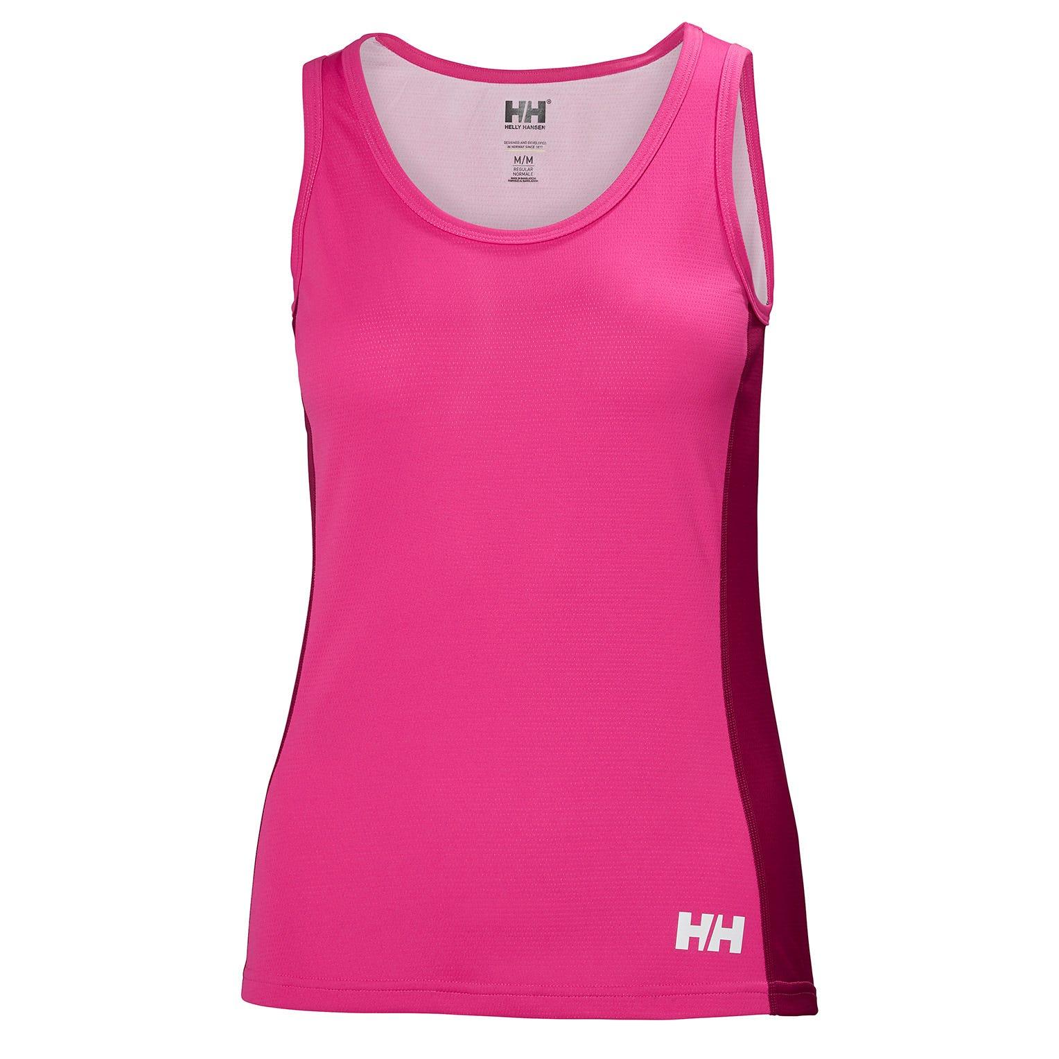 Helly Hansen W Lifa Active Light Singlet Womens Baselayer Pink XS