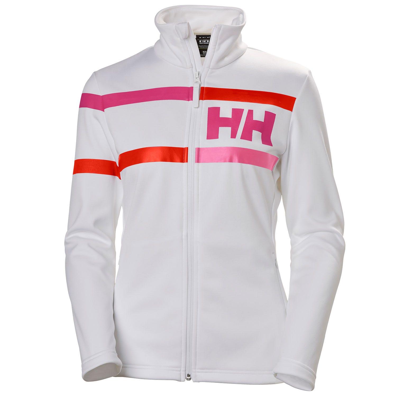 Helly Hansen W Graphic Fleece Jacket Womens White L