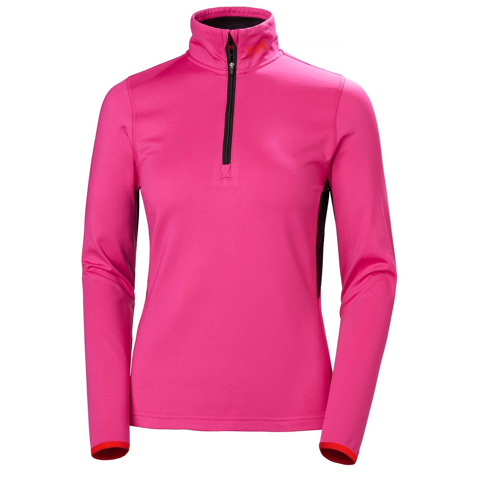 Helly Hansen W Phantom Mesh 1/2 Zip Midlayer Womens Fleece Pink XL