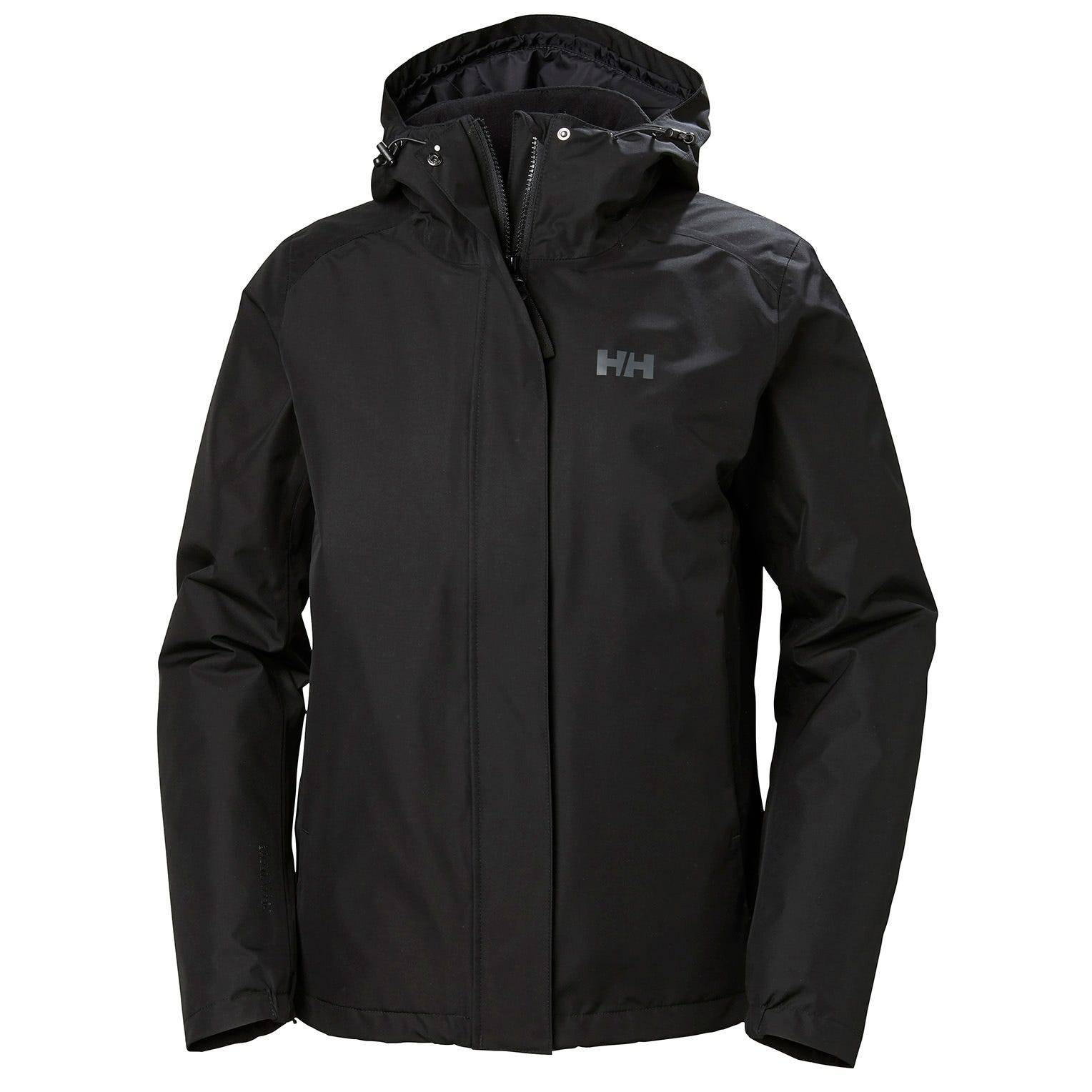 Helly Hansen W Squamish 20 Cis Jacket Womens Rain Black L