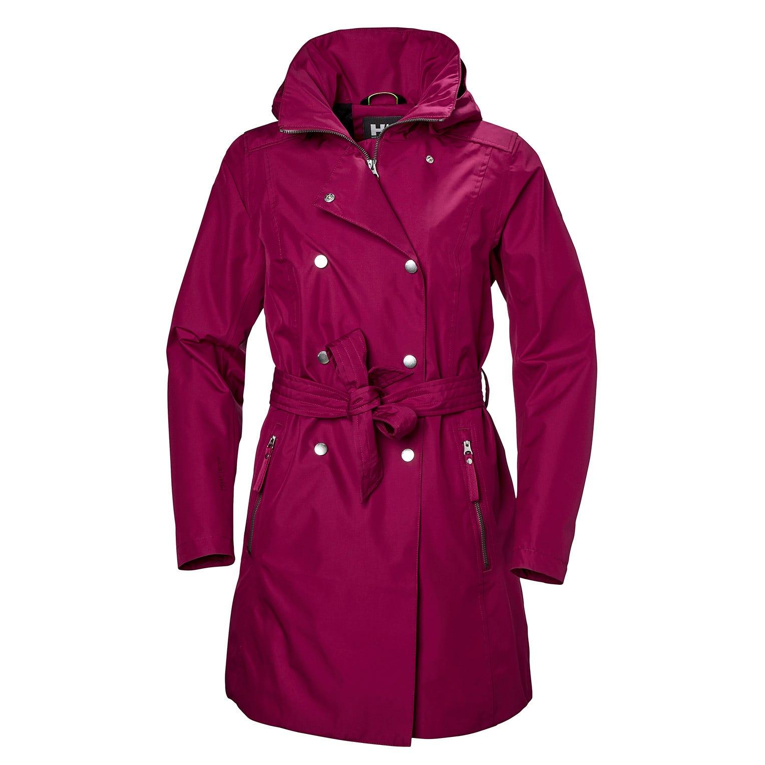 Helly Hansen W Welsey Ii Trench Womens Rain Jacket Purple L