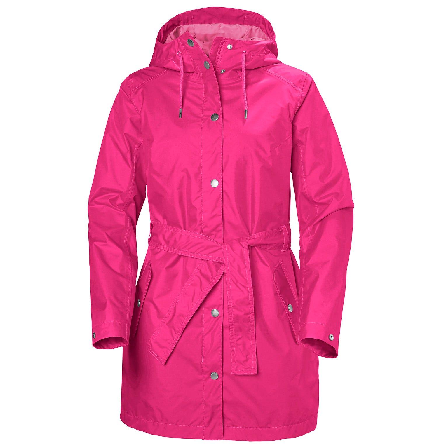 Helly Hansen W Lyness Ii Coat Womens Rain Jacket Pink M