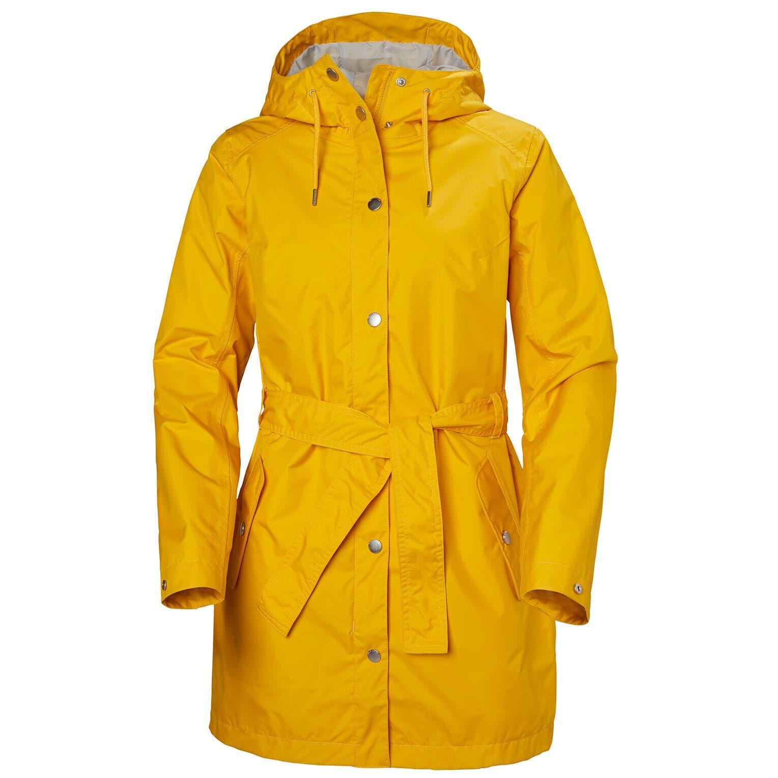 Helly Hansen W Lyness Ii Coat Womens Rain Jacket Yellow M