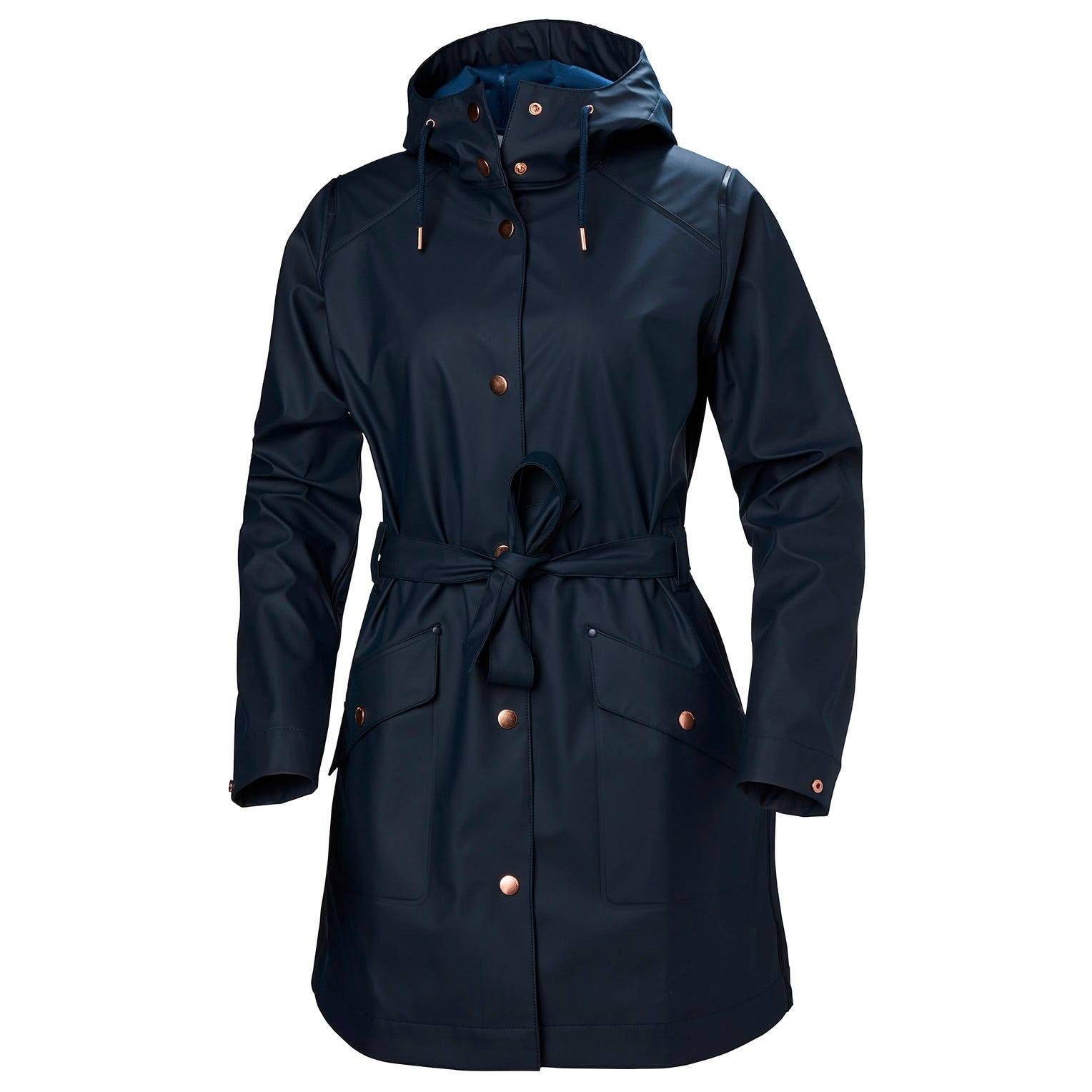 Helly Hansen W Kirkwall Ii Raincoat Womens Rain Jacket Navy L