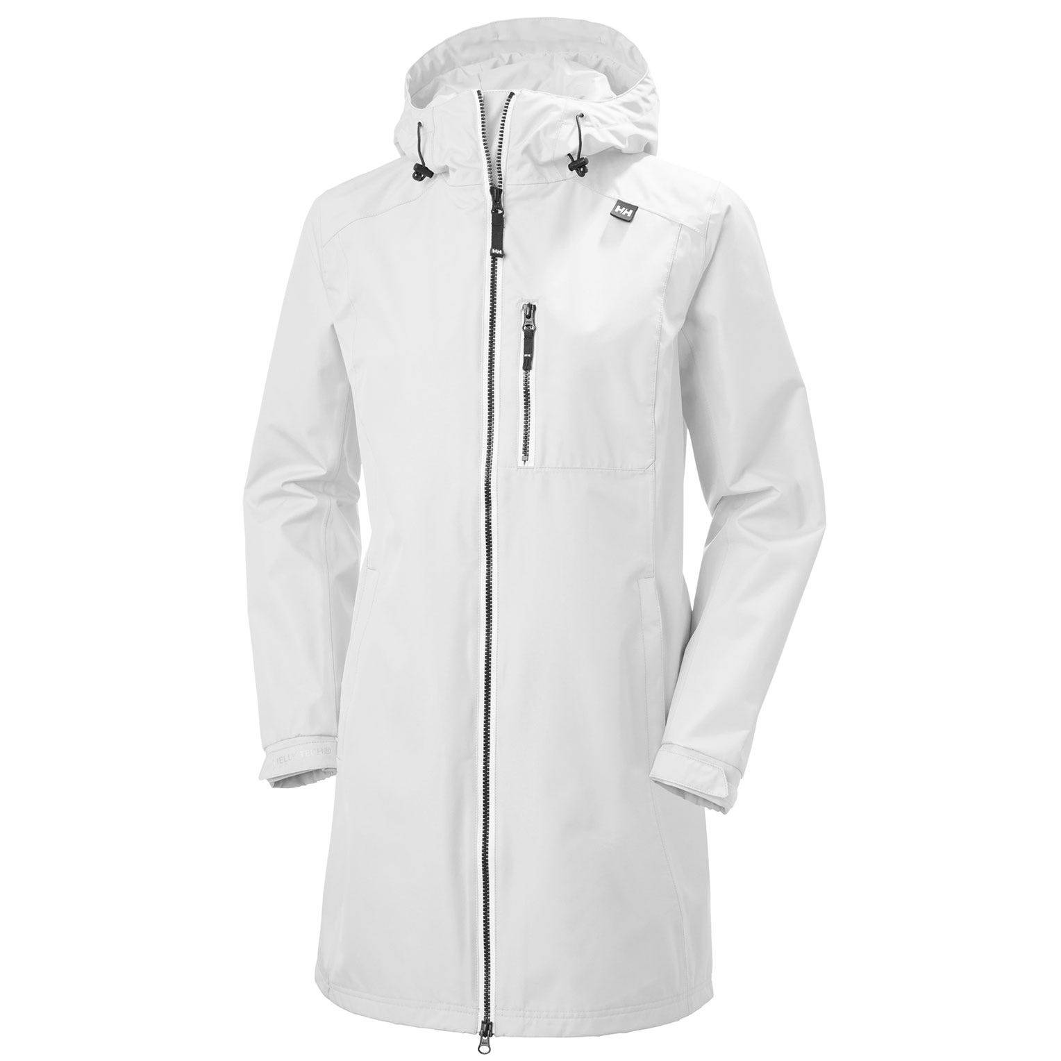 Helly Hansen W Long Belfast Jacket Womens Rain White S