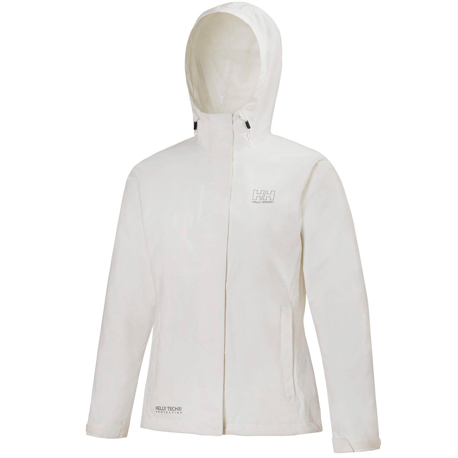 Helly Hansen W Seven J Jacket Womens Rain White XXXXL