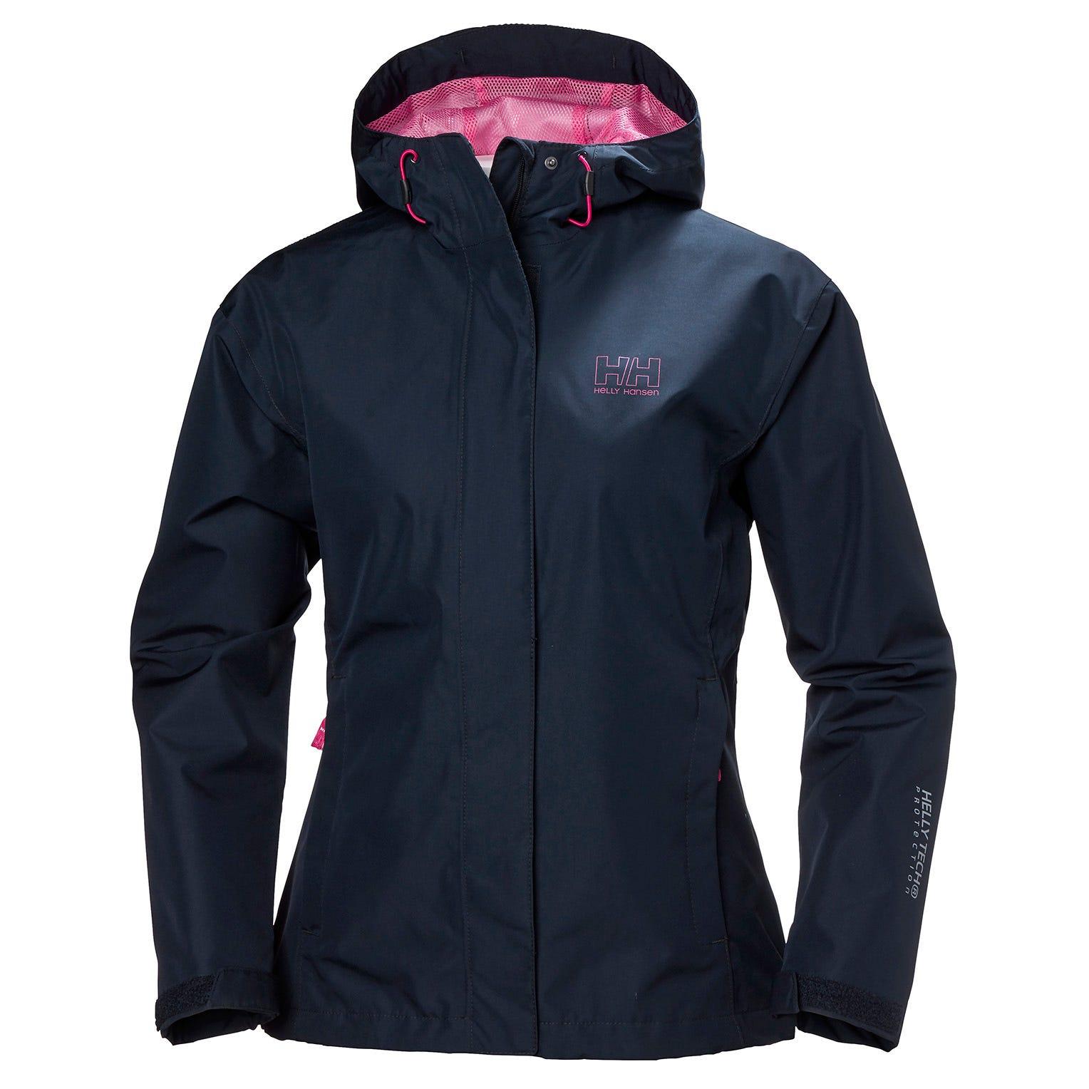 Helly Hansen W Seven J Jacket Womens Rain Navy XL