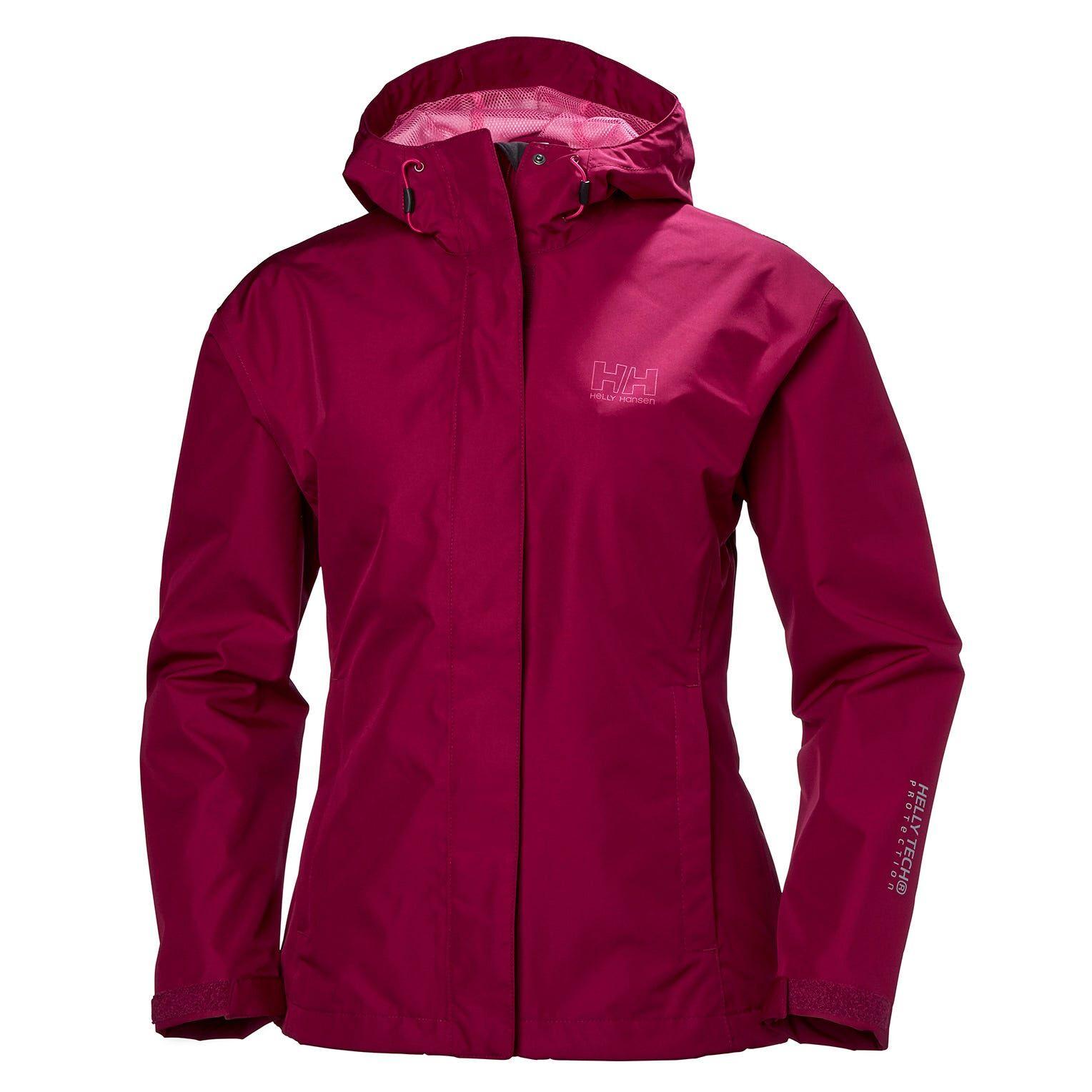 Helly Hansen W Seven J Jacket Womens Rain Purple XS