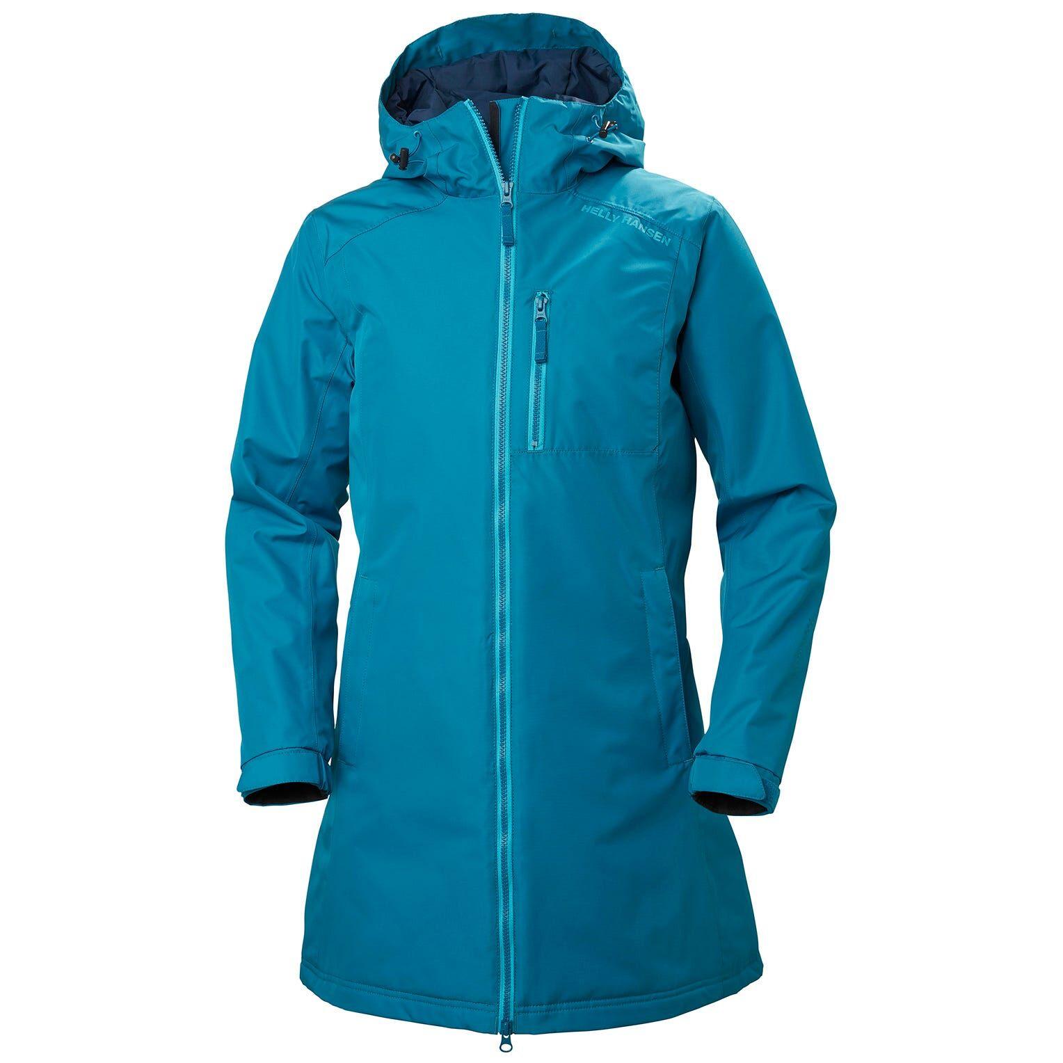 Helly Hansen W Long Belfast Winter Jacket Womens Parka Yellow S