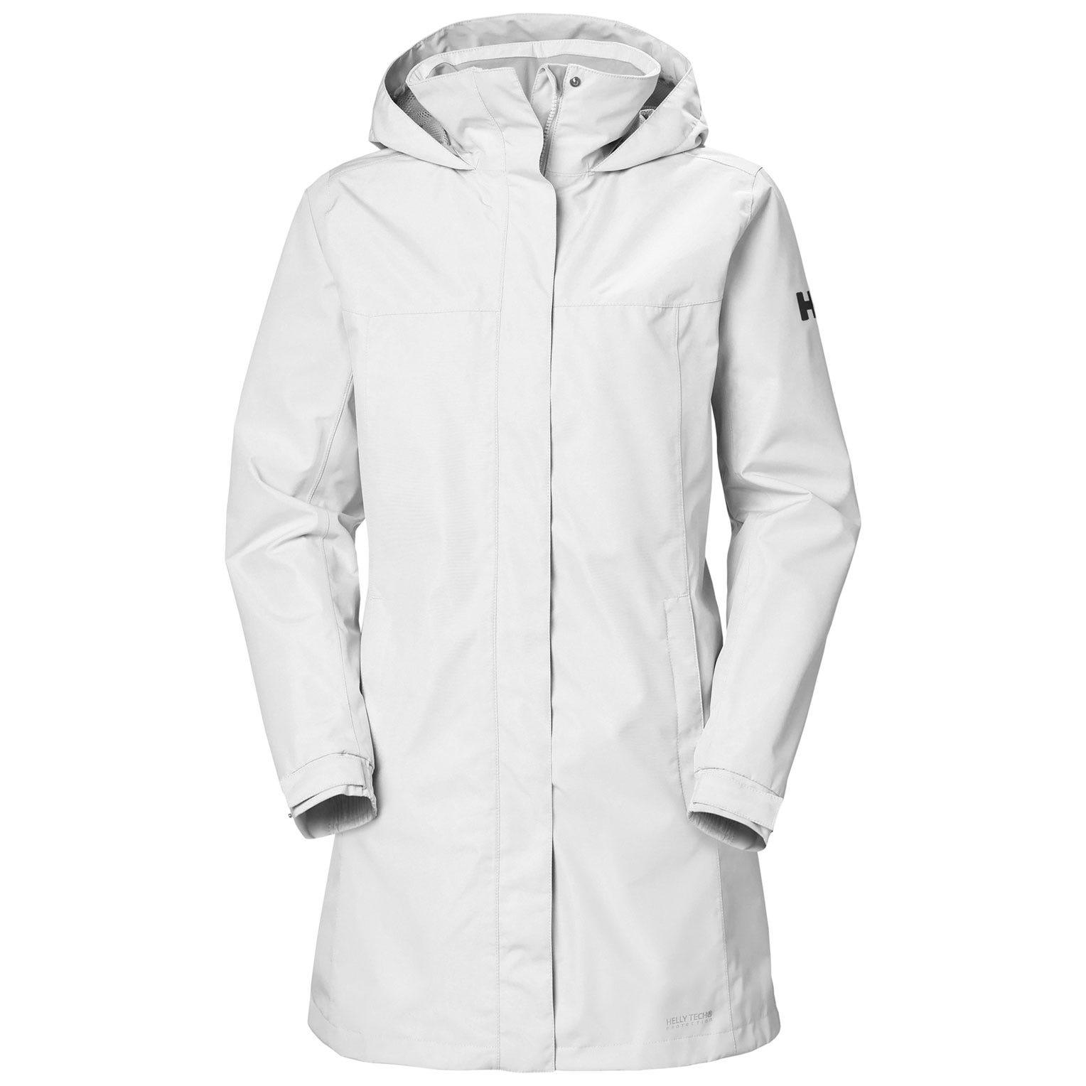 Helly Hansen W Aden Long Coat Womens Rain Jacket White XL