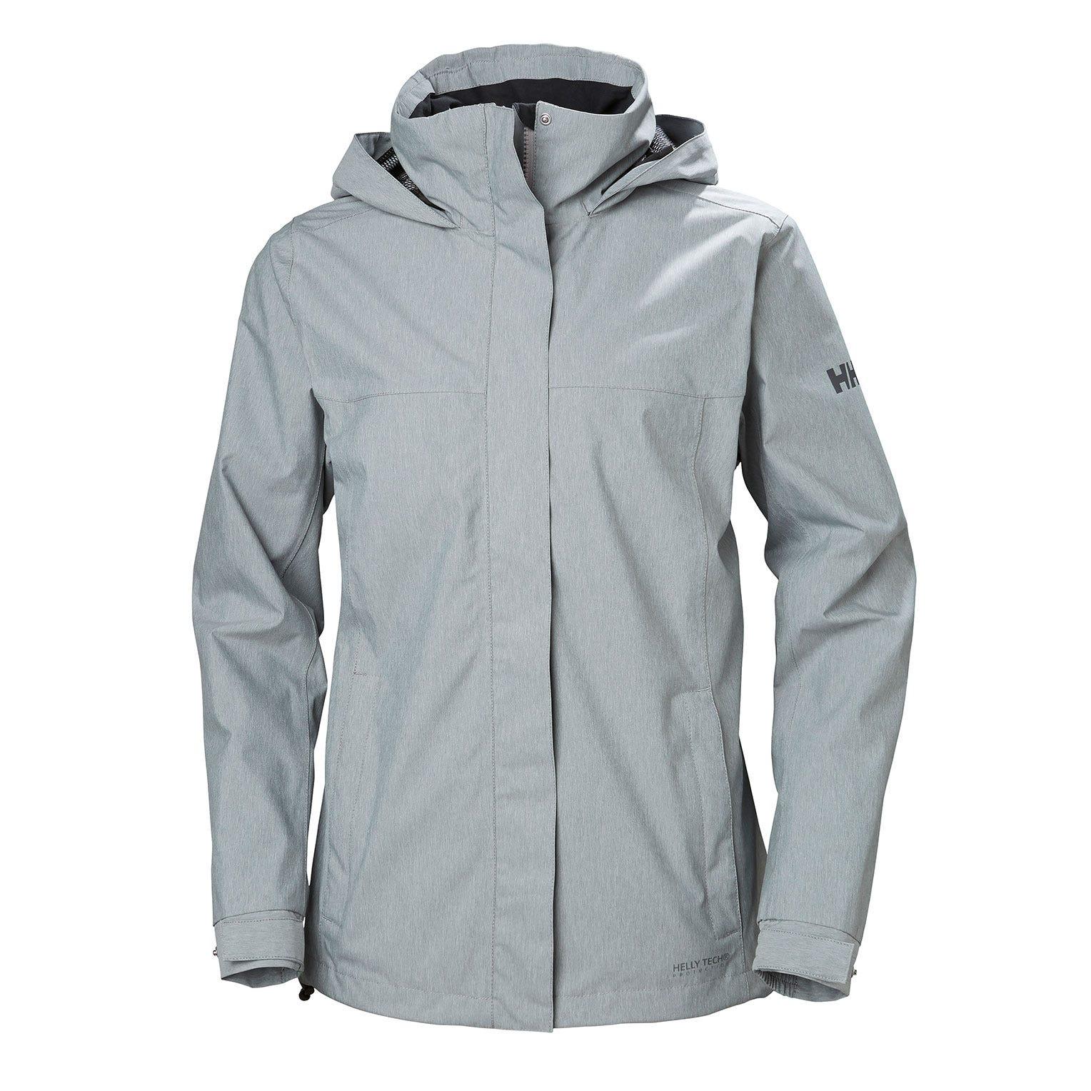Helly Hansen W Aden Jacket Womens Rain Grey XL