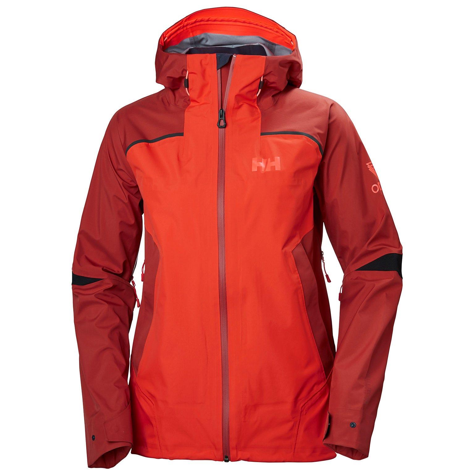 Helly Hansen W Odin 9 Worlds Jacket Womens Hiking Red L
