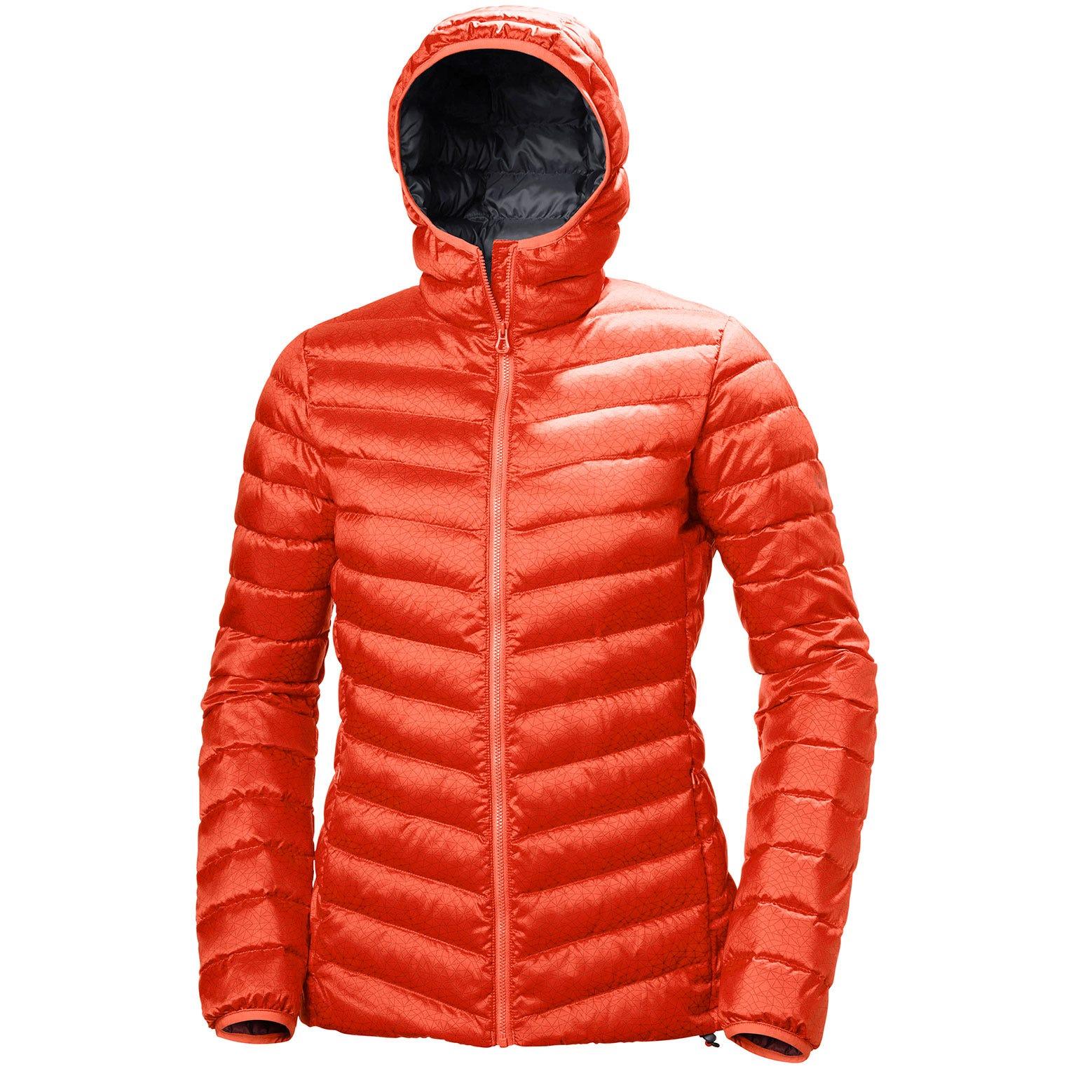 Helly Hansen W Verglas Hooded Down Insulato Womens Hiking Jacket Red S