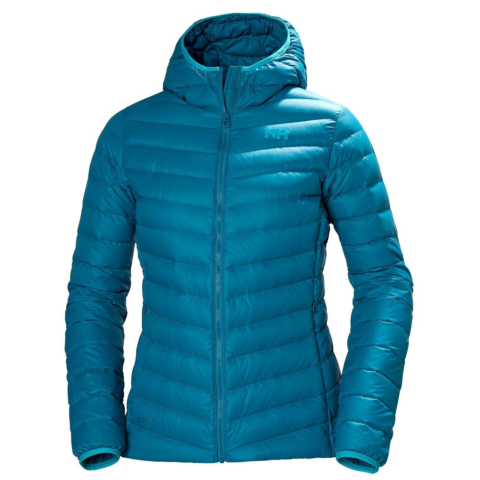 Helly Hansen W Verglas Hooded Down Insulator Womens Hiking Jacket Blue XS