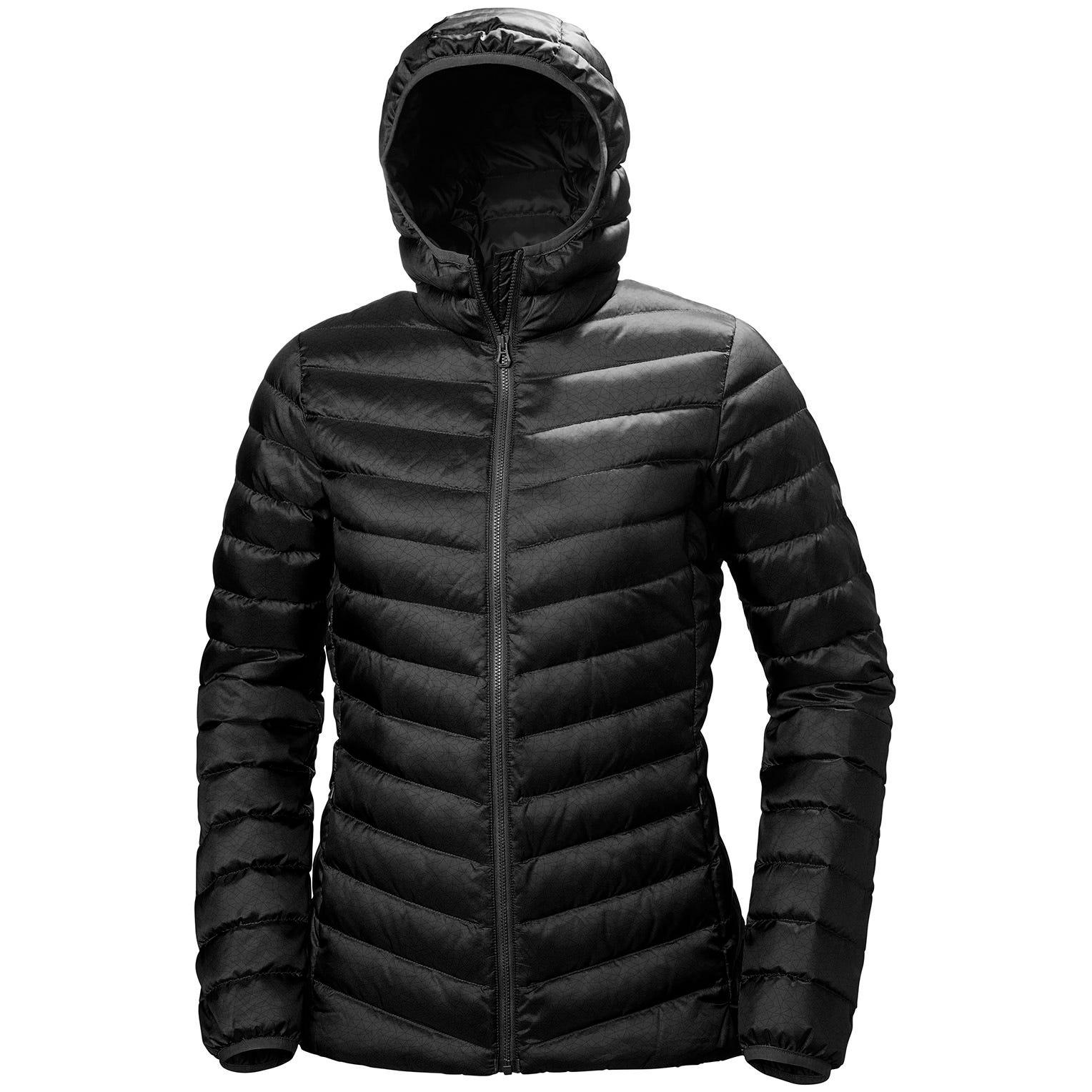 Helly Hansen W Verglas Hooded Down Insulator Womens Hiking Jacket Black XS