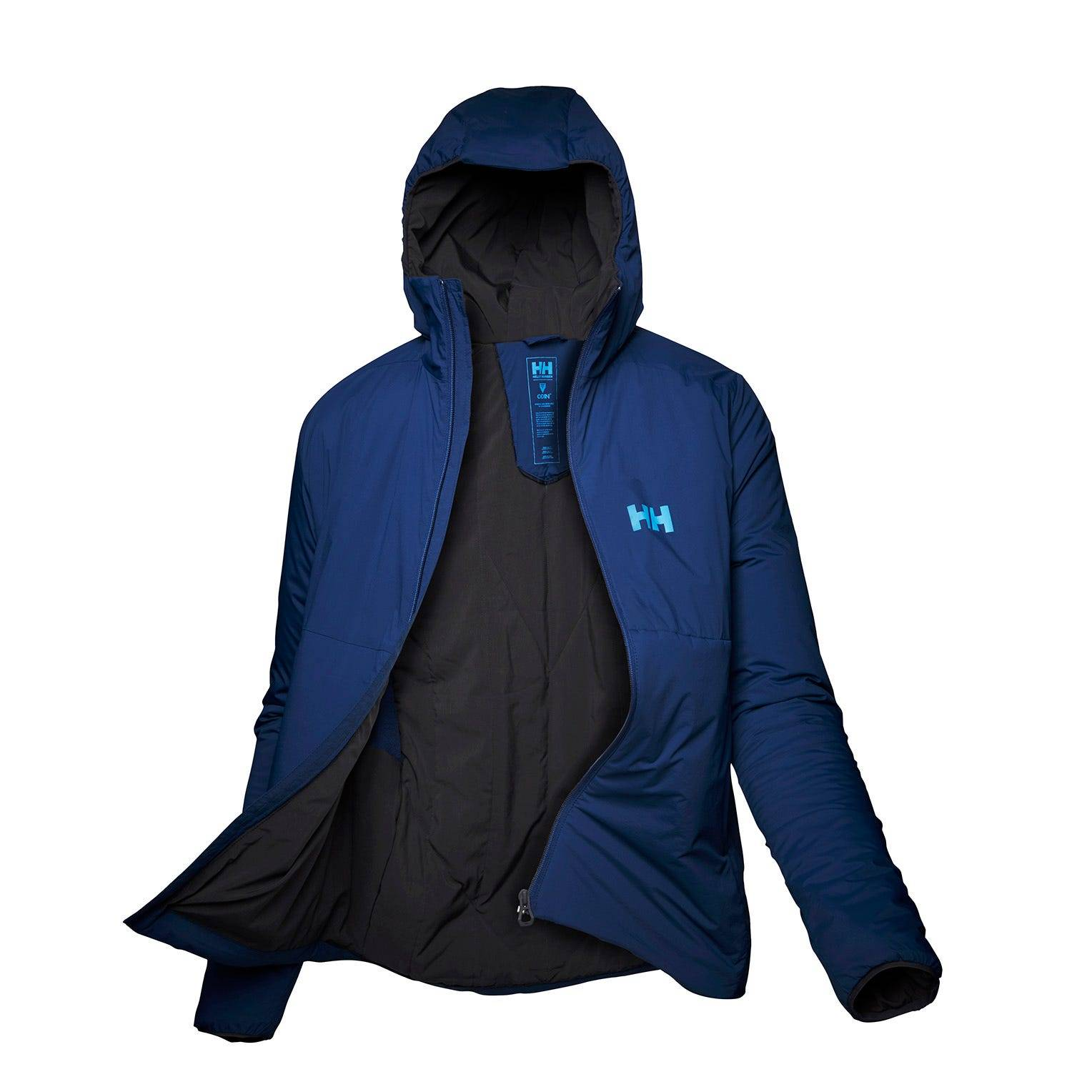 Helly Hansen W Odin Stretch Hooded Insulated Jack Womens Hiking Jacket Blue XL