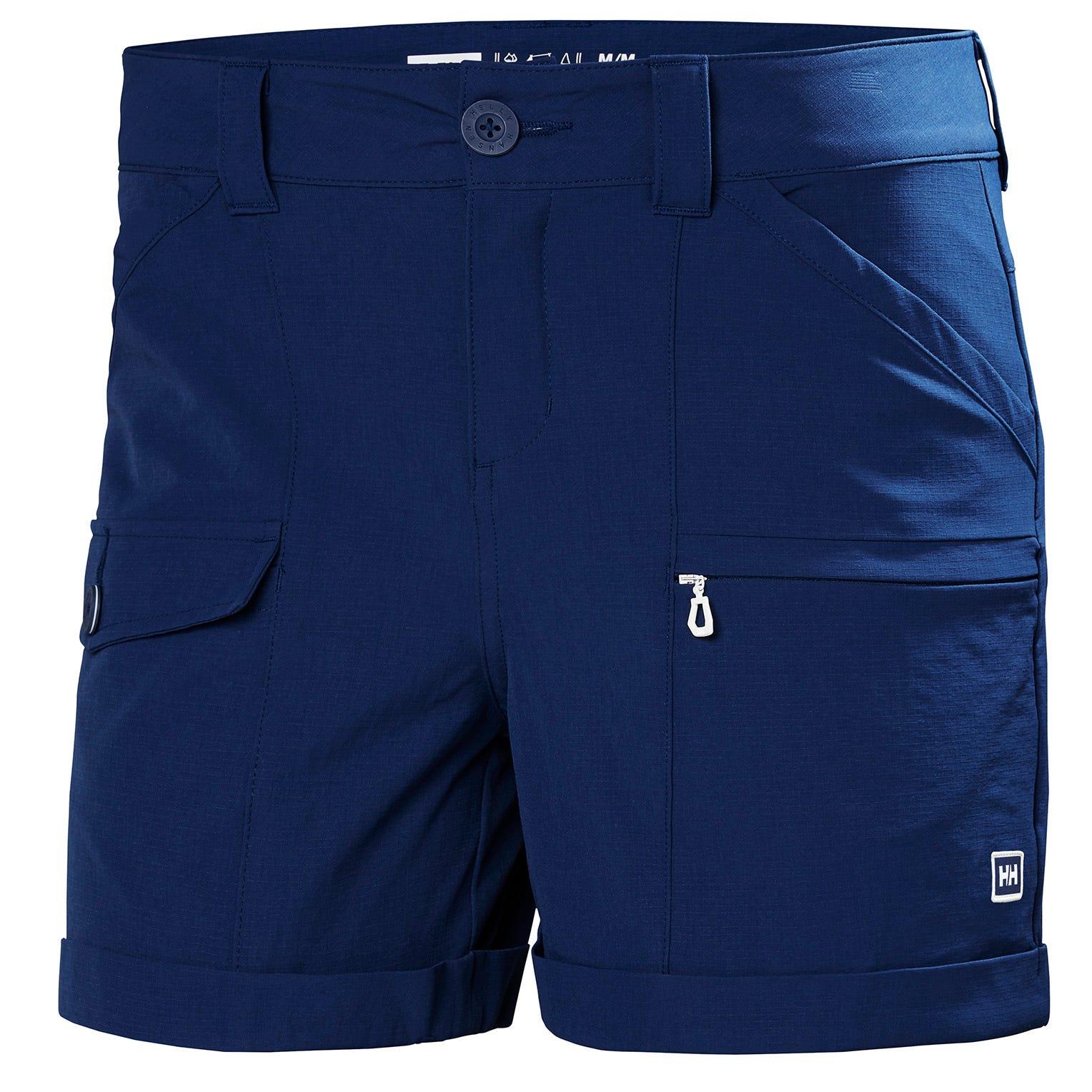 Helly Hansen W Maridalen Shorts Womens Hiking Pant Blue L