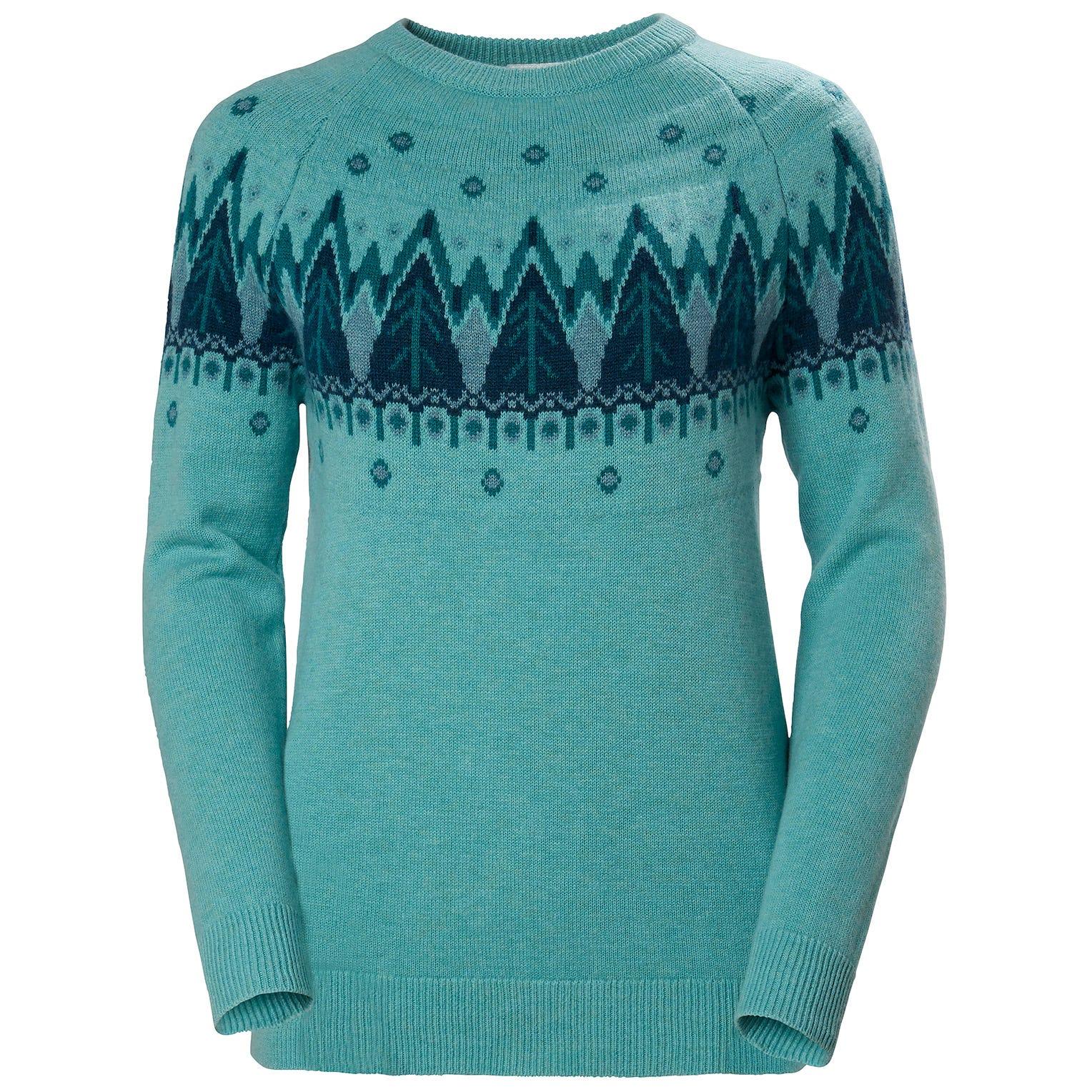 Helly Hansen W Wool Knit Sweater Womens Blue XS