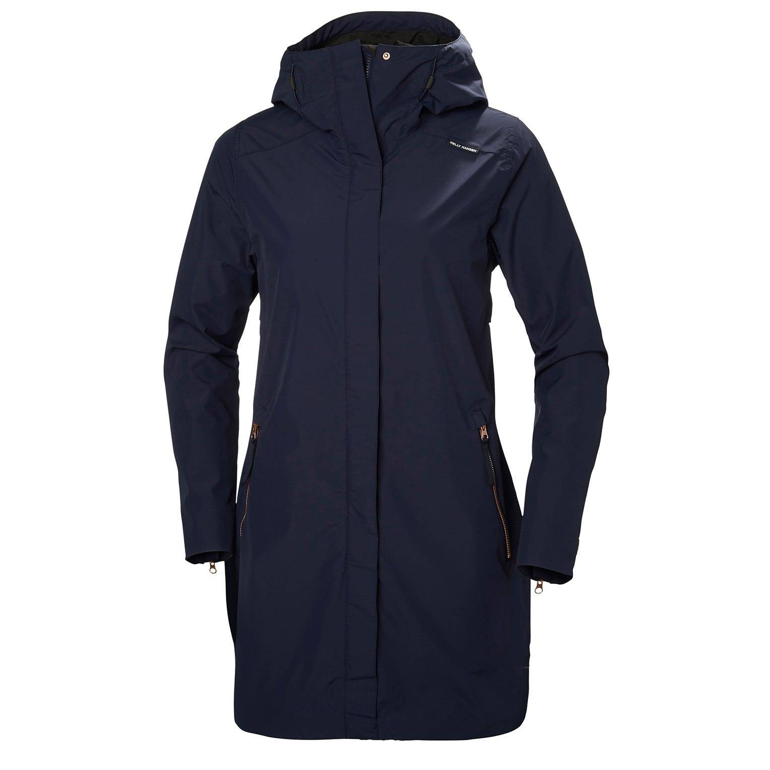 Helly Hansen W Laurel Coat Womens Rain Jacket Navy XS