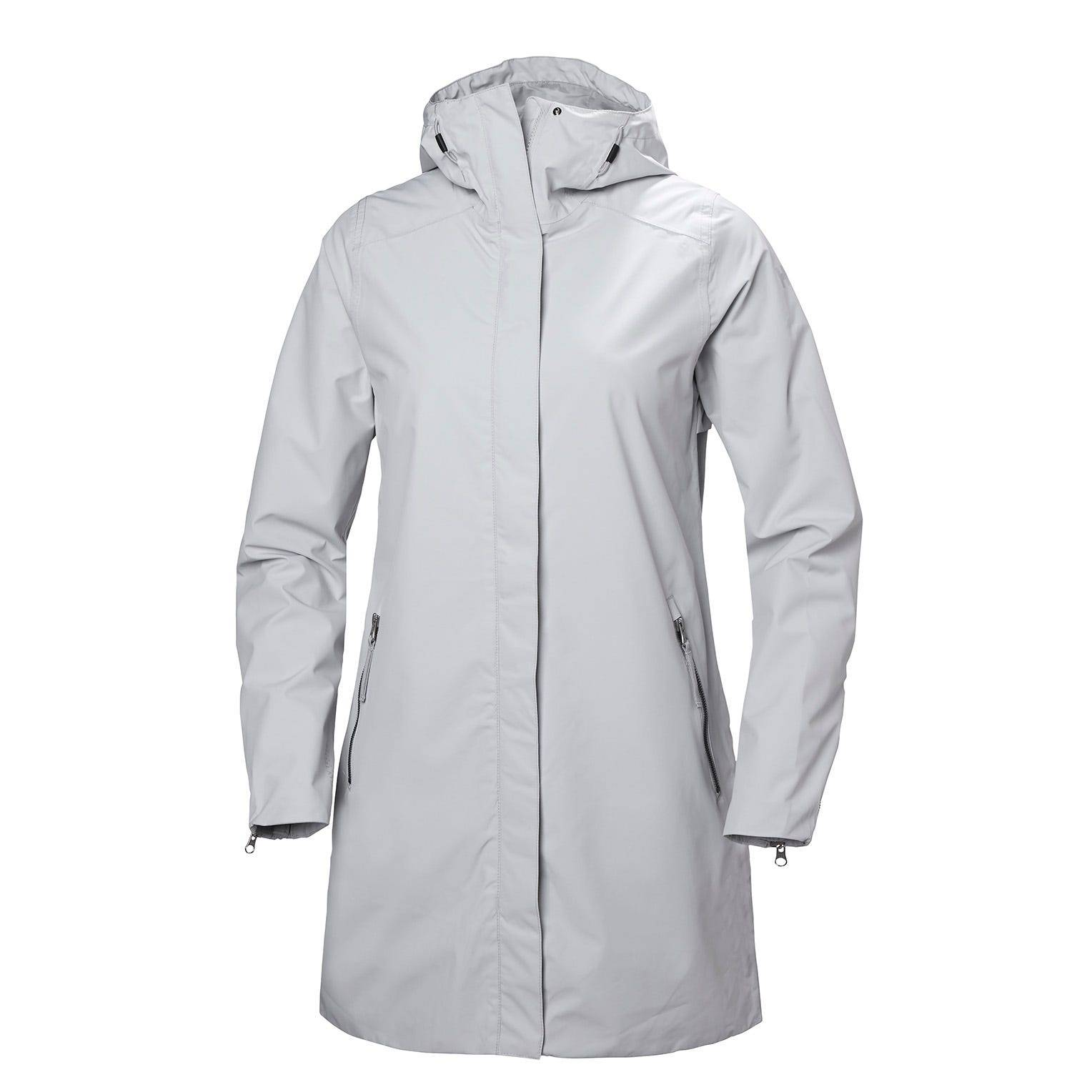 Helly Hansen W Laurel Coat Womens Rain Jacket Grey M