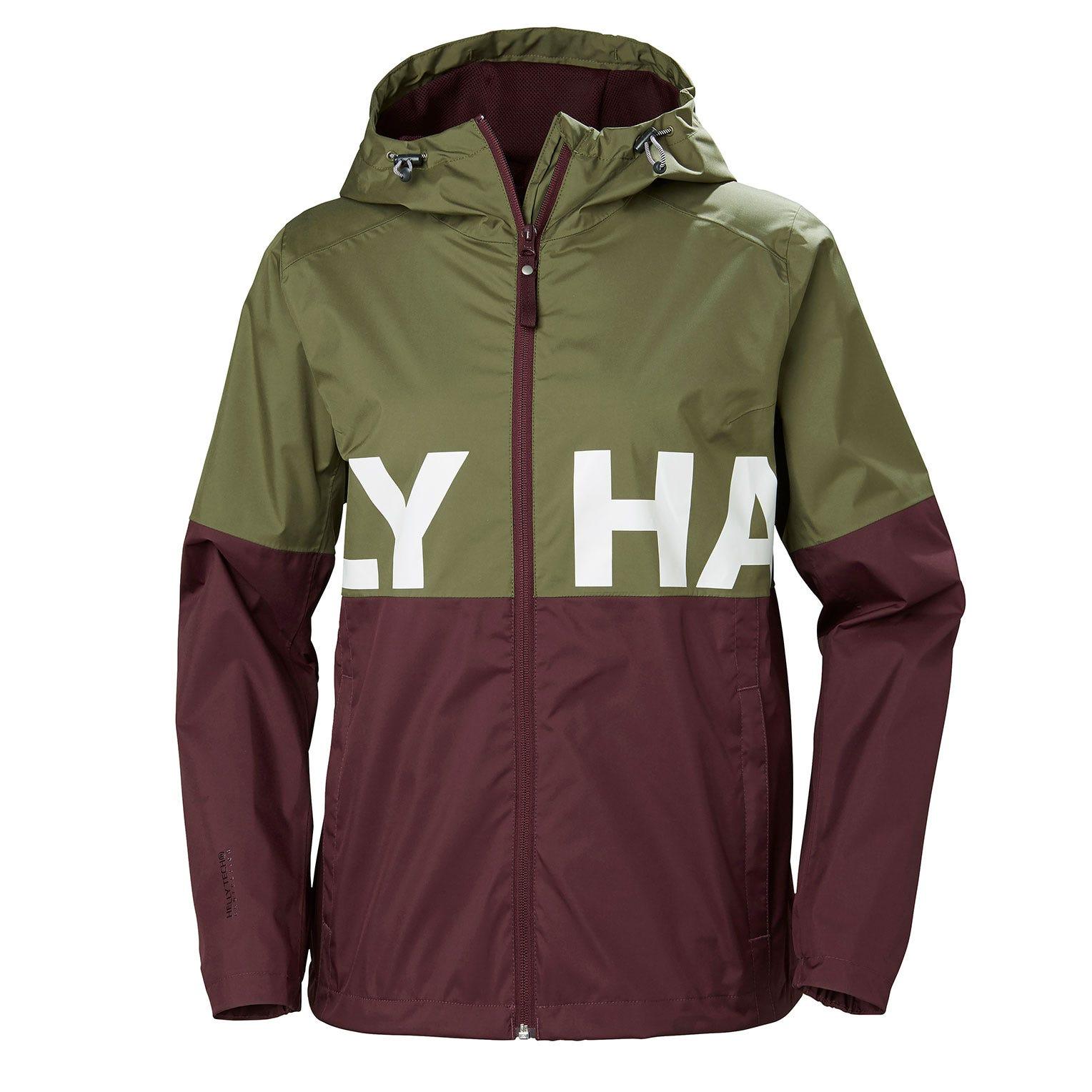 Helly Hansen W Amuze Jacket Womens Rain Green M
