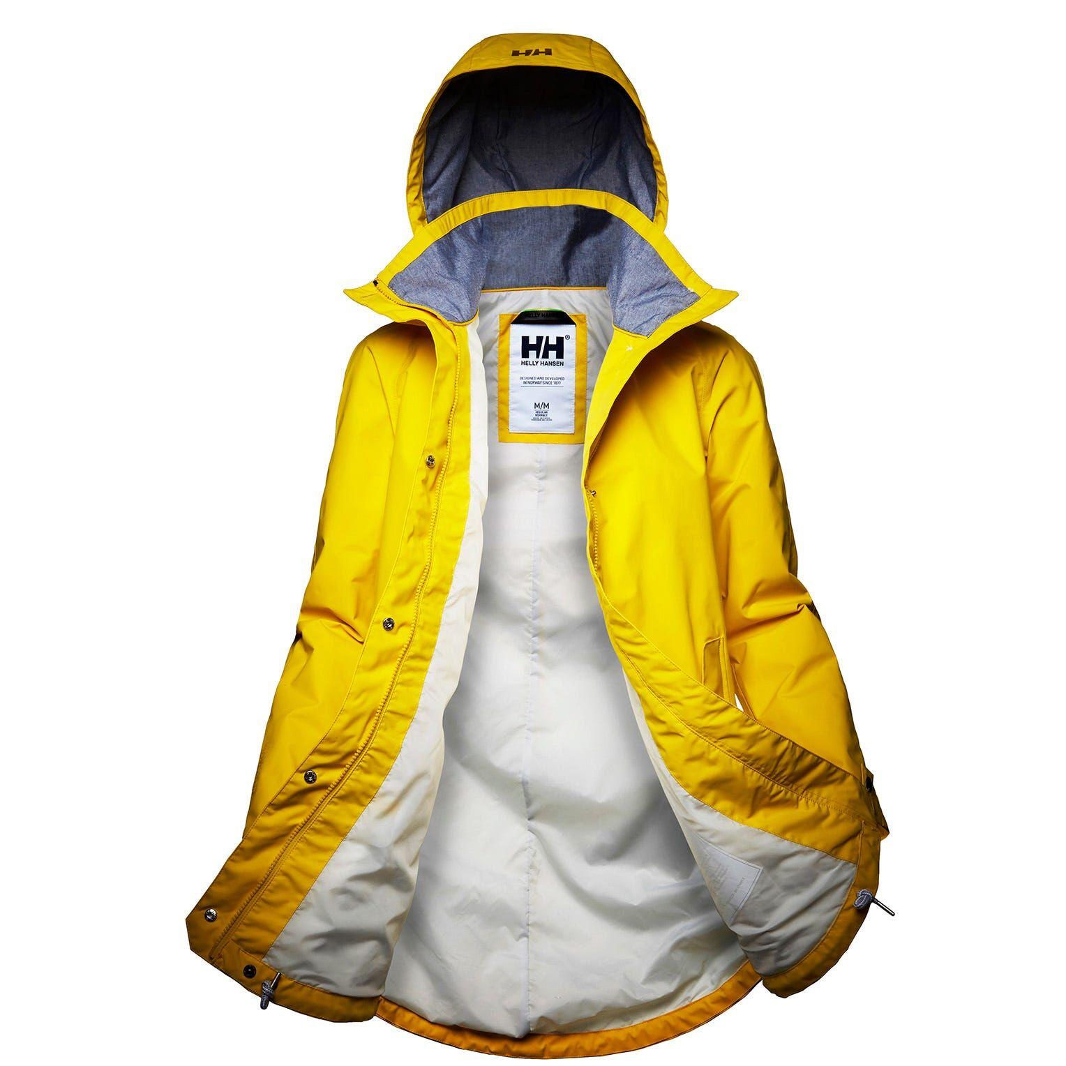 Helly Hansen W Sendai Rain Coat Womens Jacket Yellow L