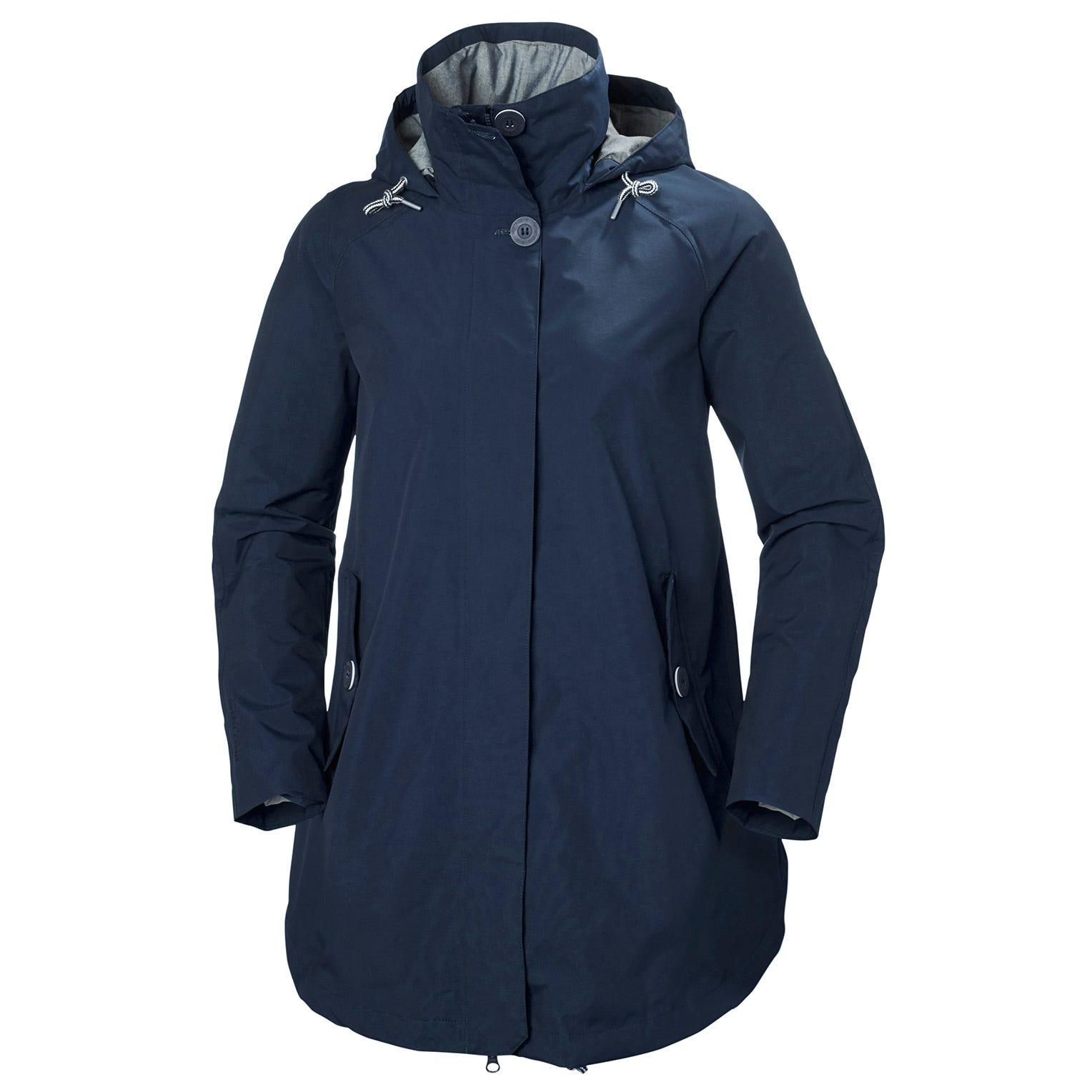 Helly Hansen W Sendai Rain Coat Womens Jacket Navy M