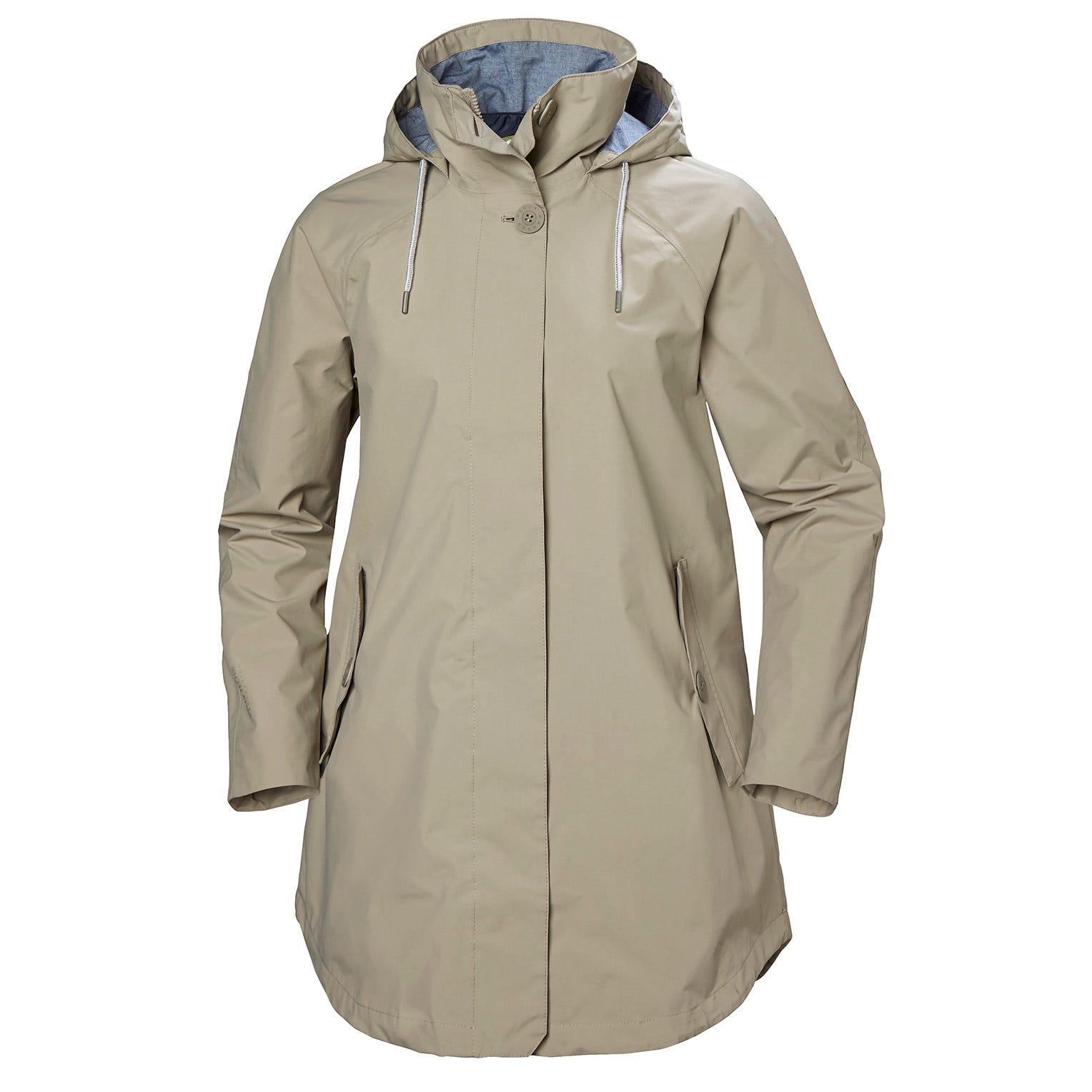Helly Hansen W Sendai Rain Coat Womens Jacket Grey XS