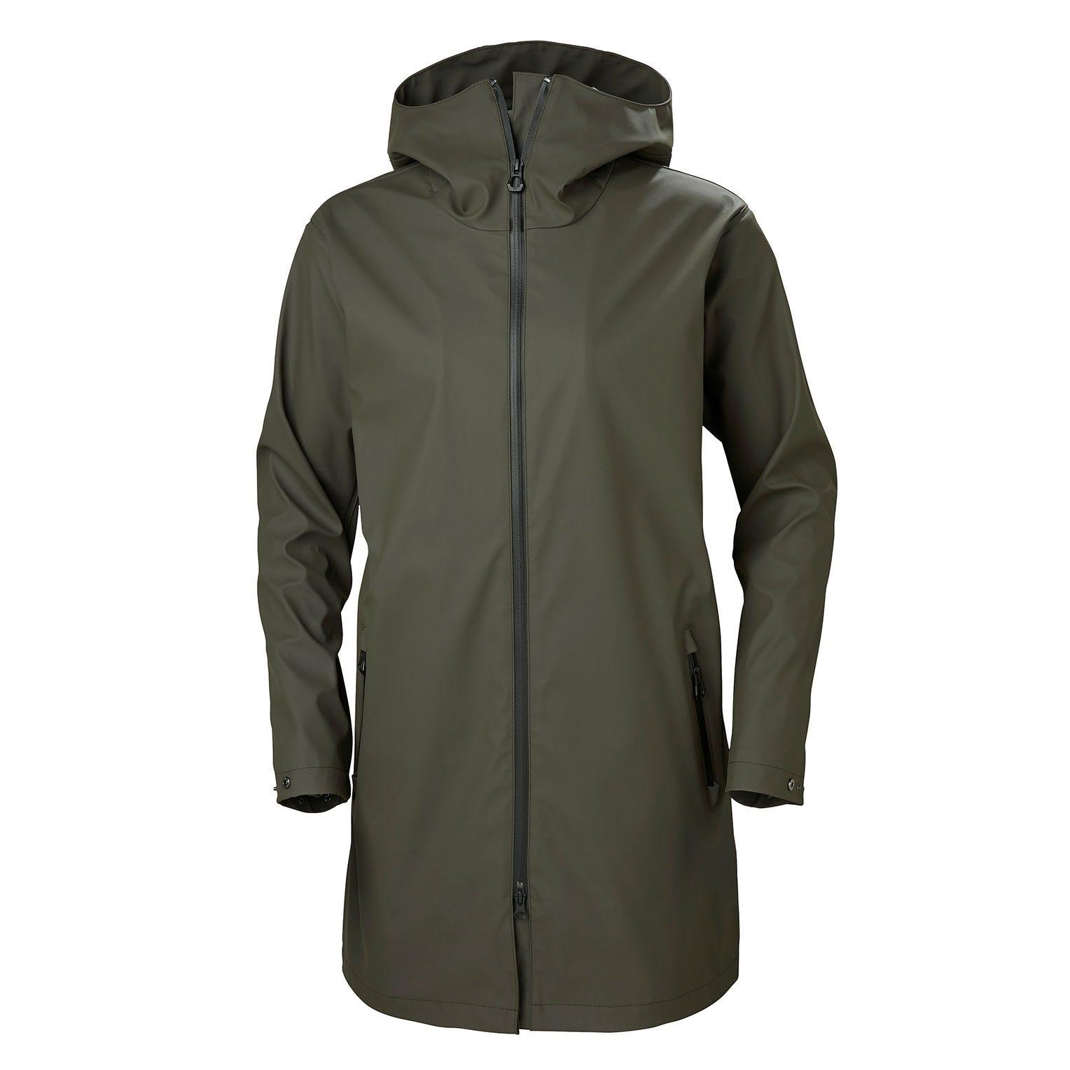 Helly Hansen W Copenhagen Raincoat Womens Parka Green M