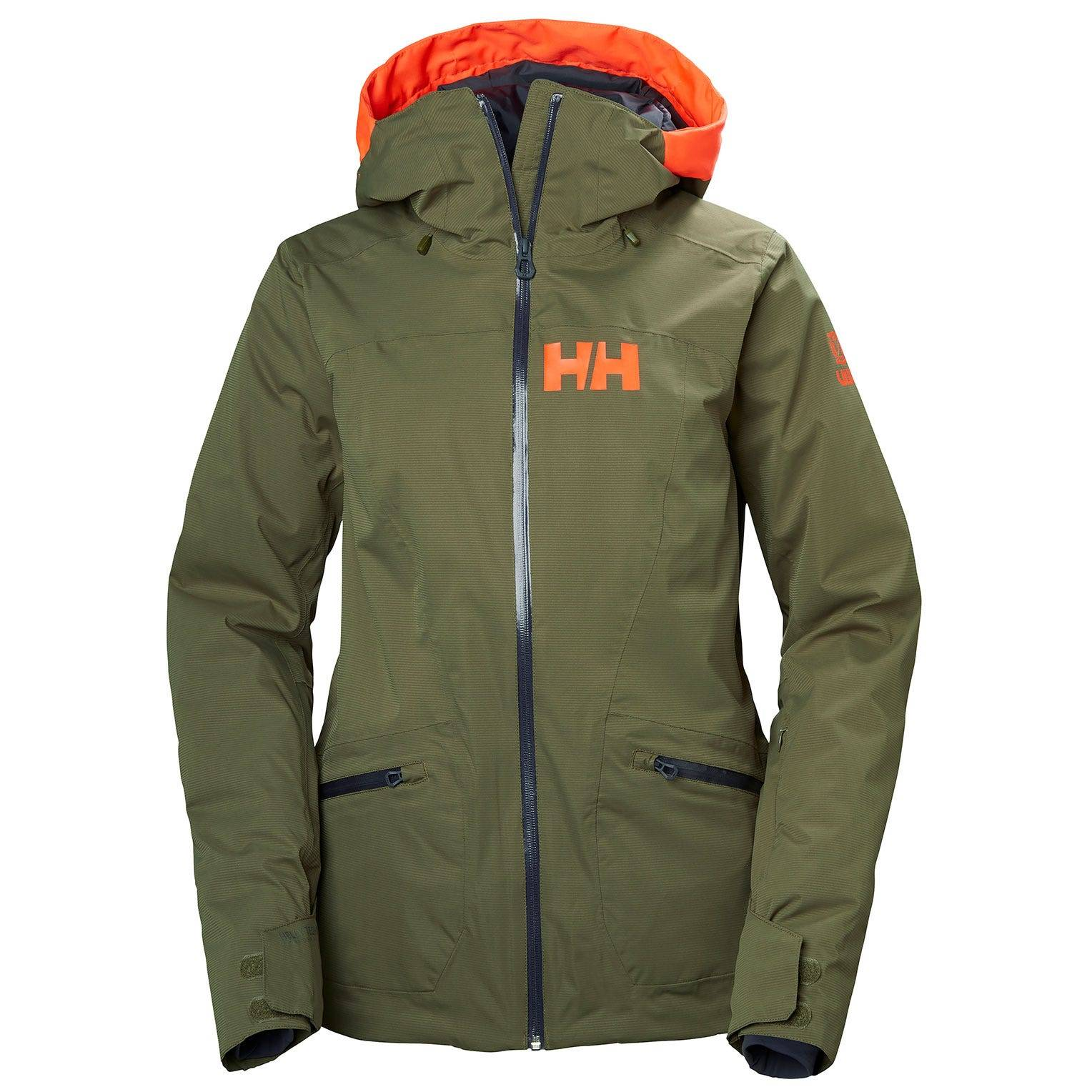 Helly Hansen W Glory Light Insulated Stretch Ski Jacket Womens Green M